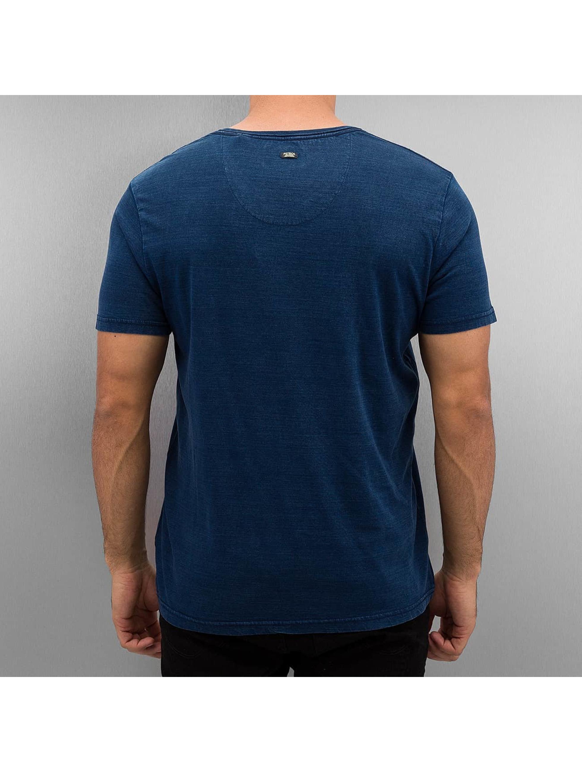 Petrol Industries T-Shirt Mirror blau