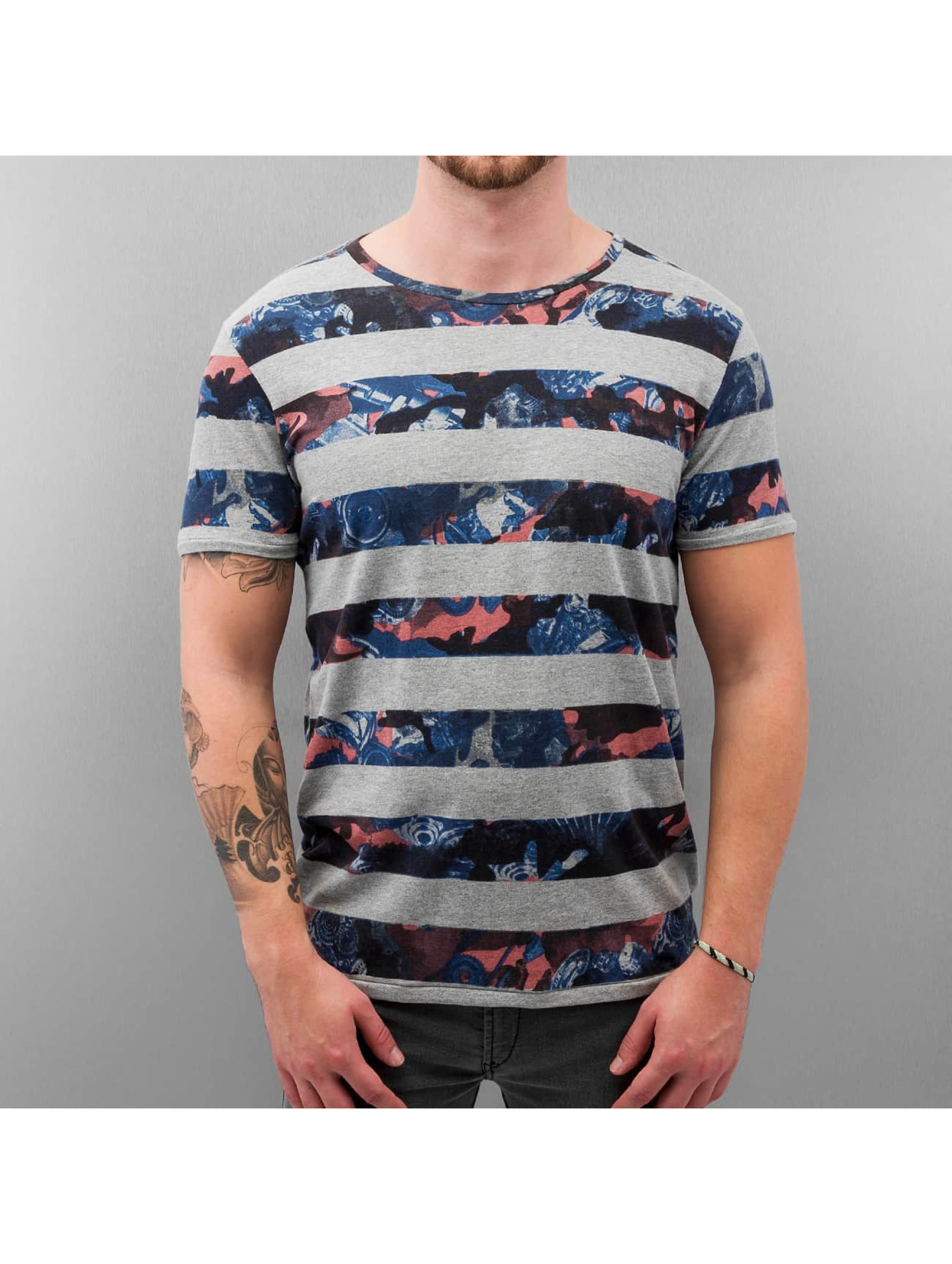 Petrol Industries T-Shirt Stripes grau