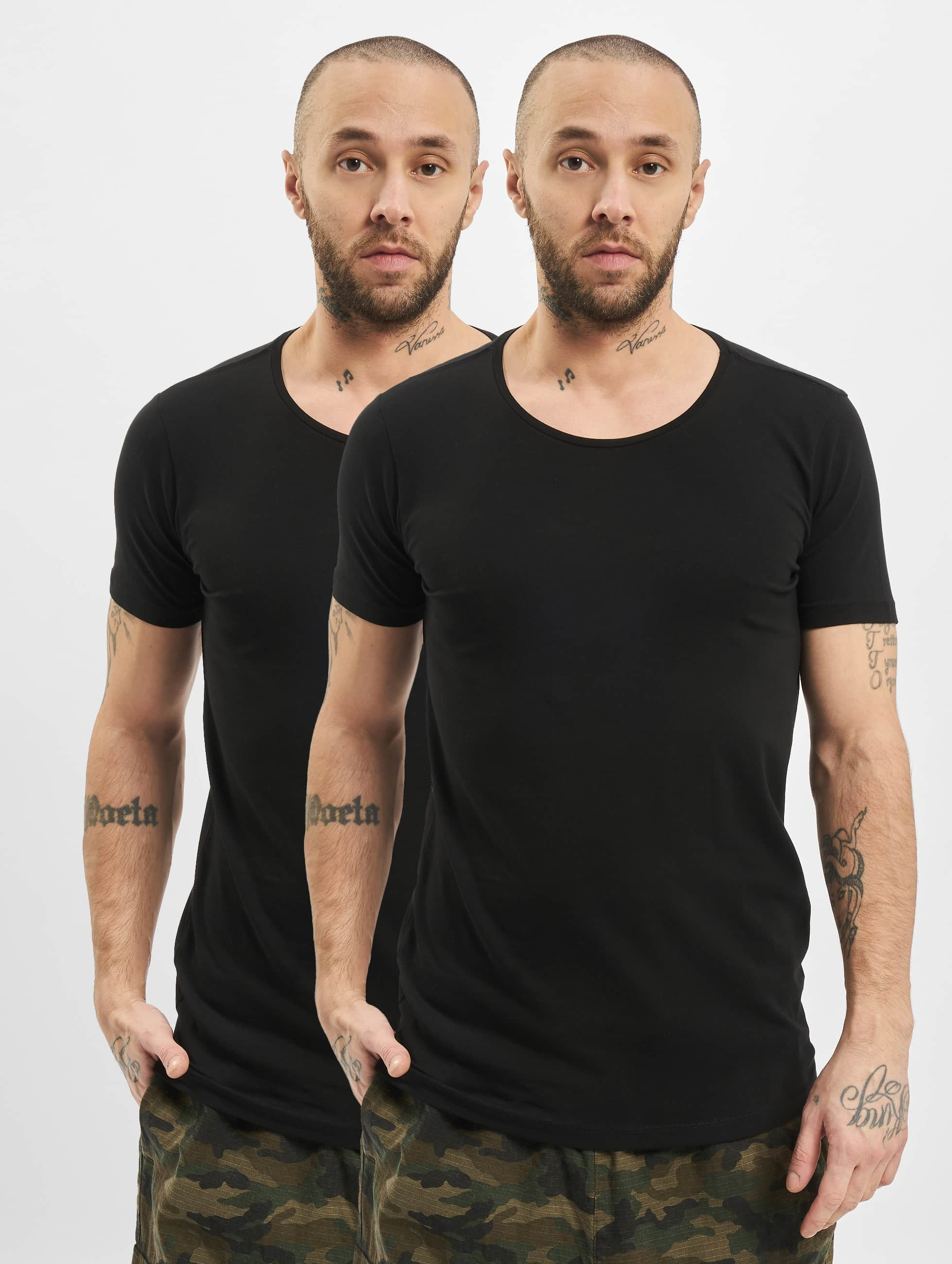 Petrol Industries T-Shirt odyfit Basic 2 Pack schwarz