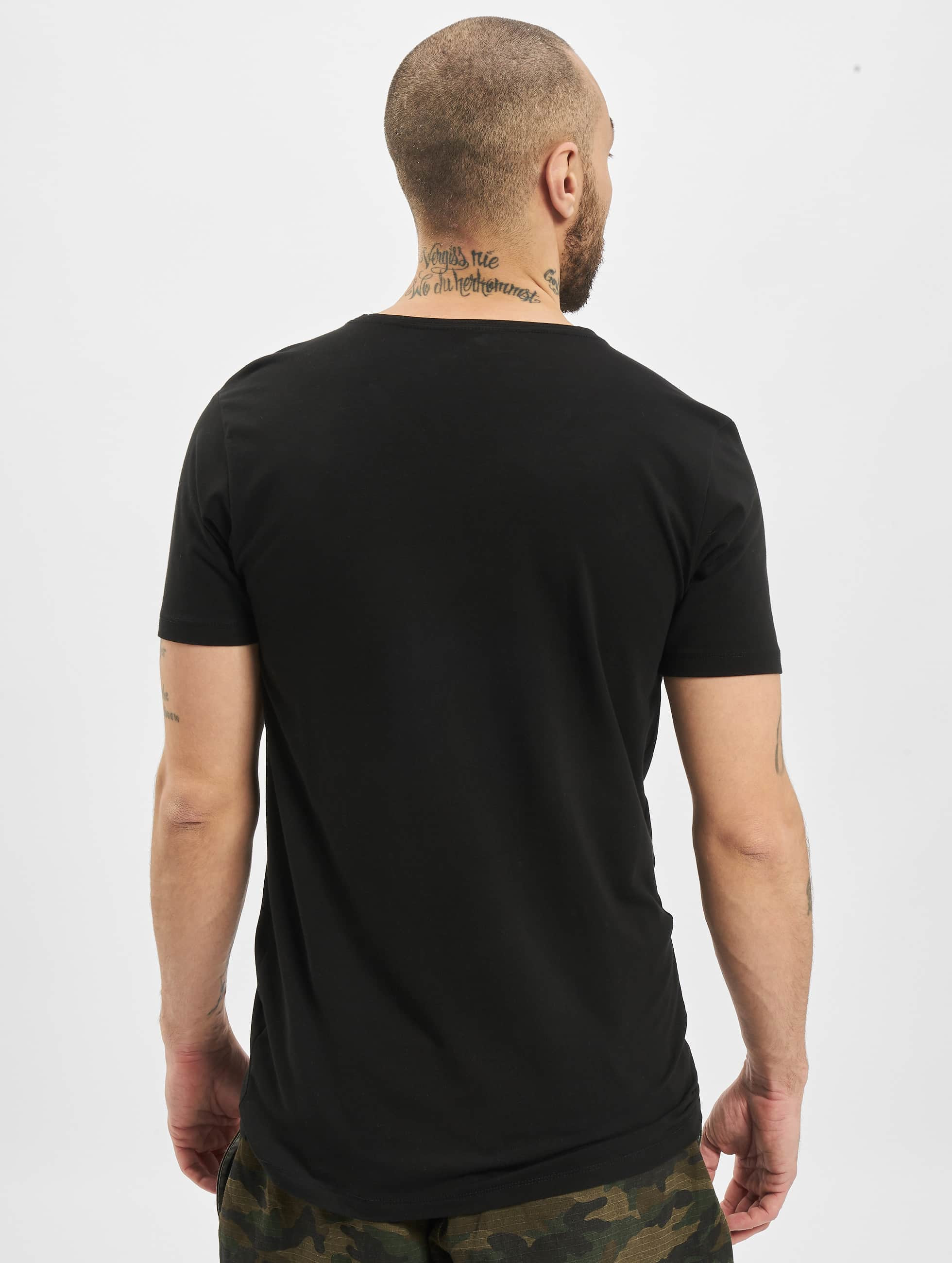 Petrol Industries T-shirt Bodyfit Basic 2 Pack svart
