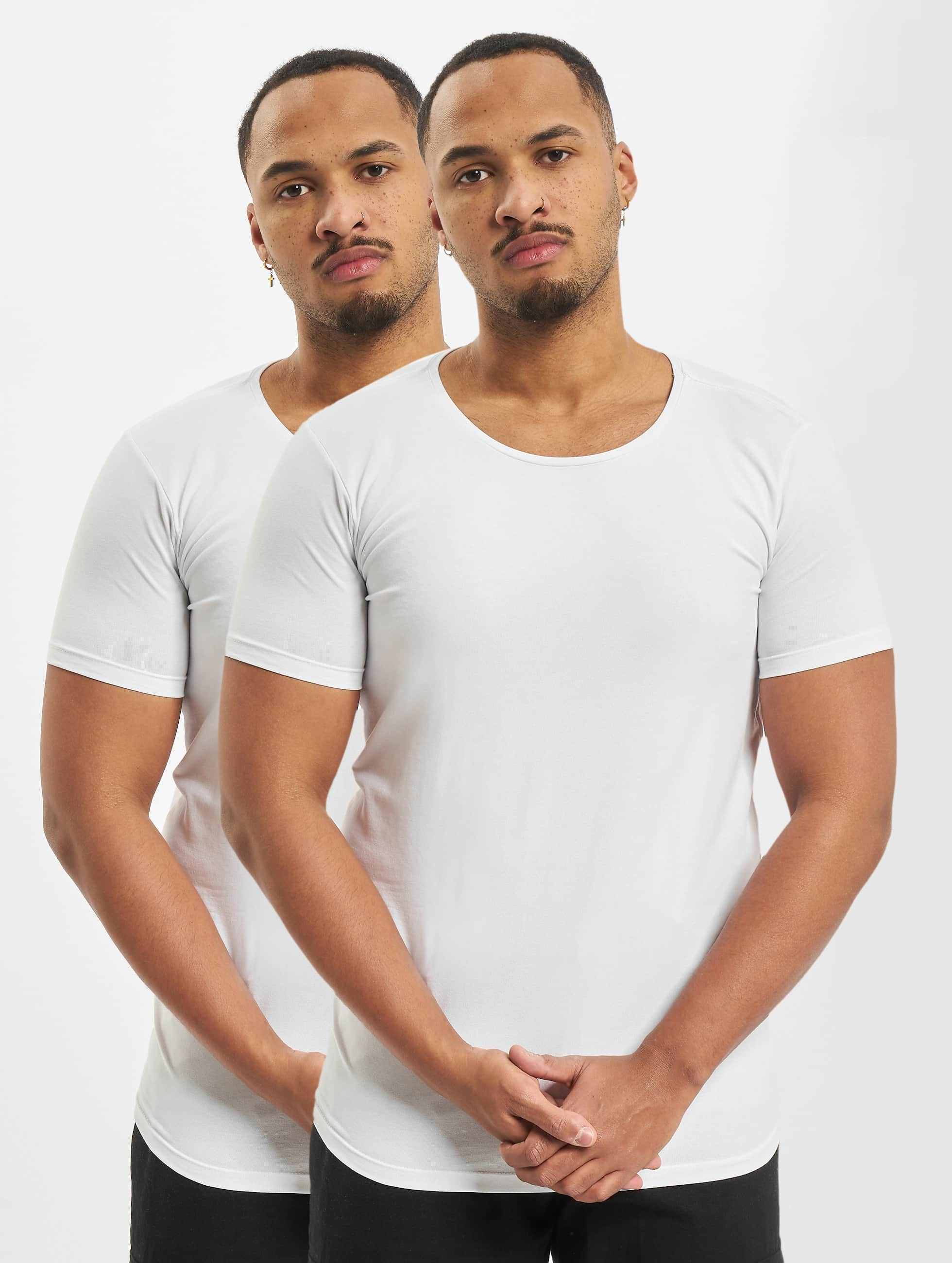 Petrol Industries T-Shirt Bodyfit Basic 2 Pack weiß