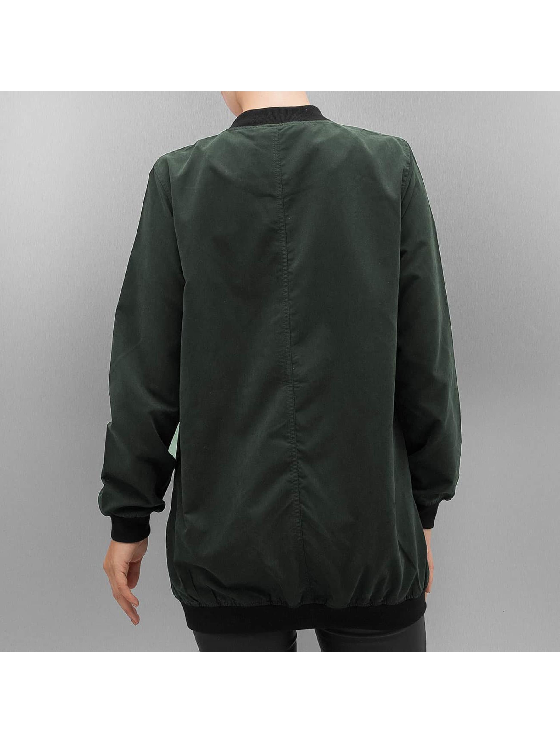 Pieces Куртка-бомбардир PcAlma Long оливковый