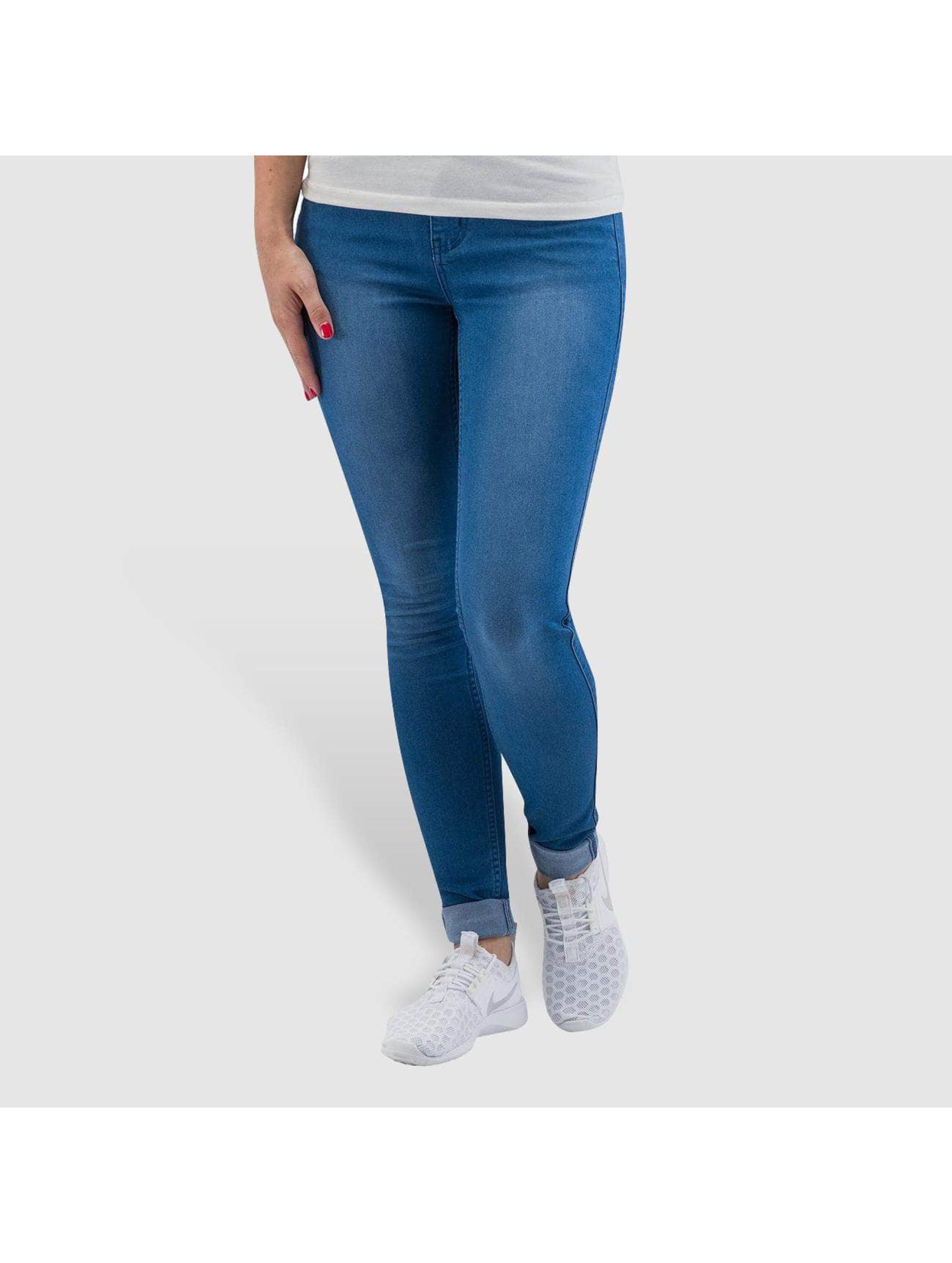 Pieces Облегающие джинсы Just Jute синий