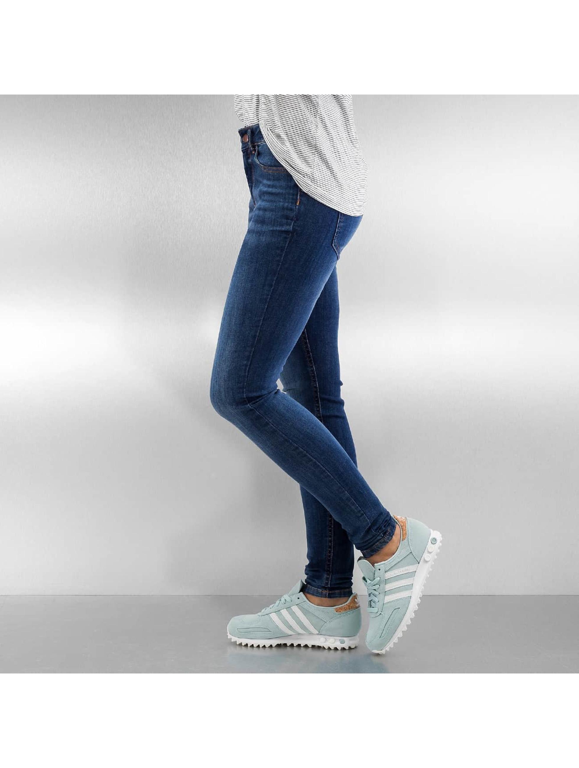 Pieces Облегающие джинсы PcFive Delly синий