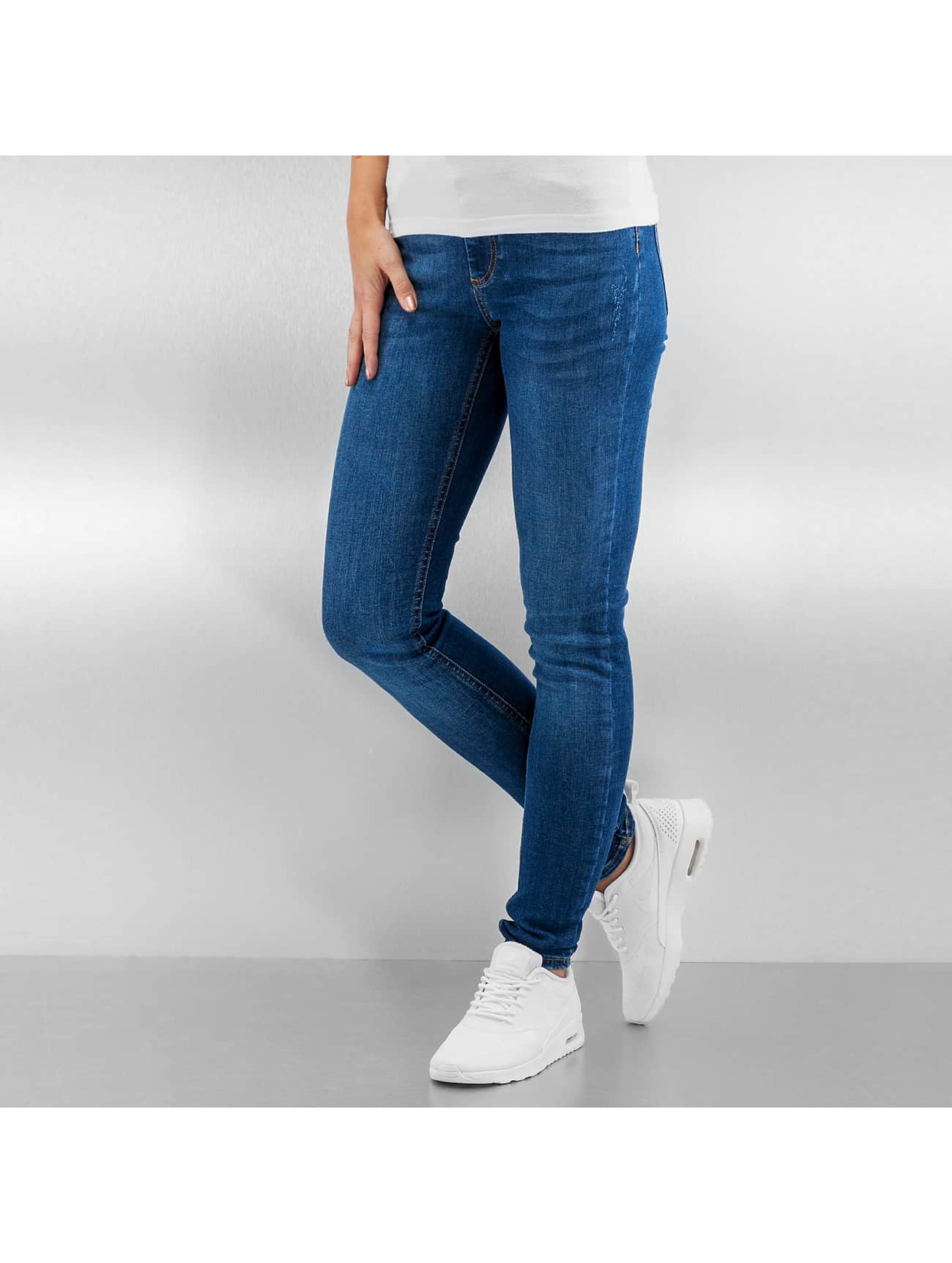 Pieces Облегающие джинсы pcJust New Delly синий