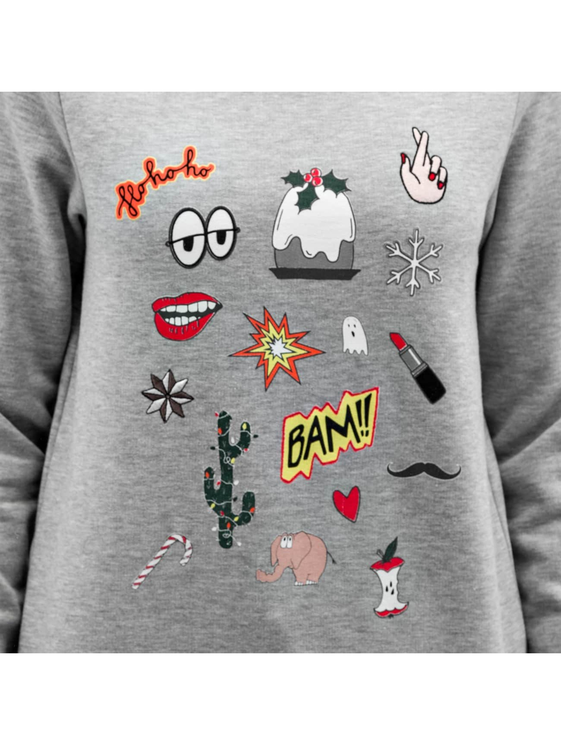 Pieces Пуловер pcVega серый