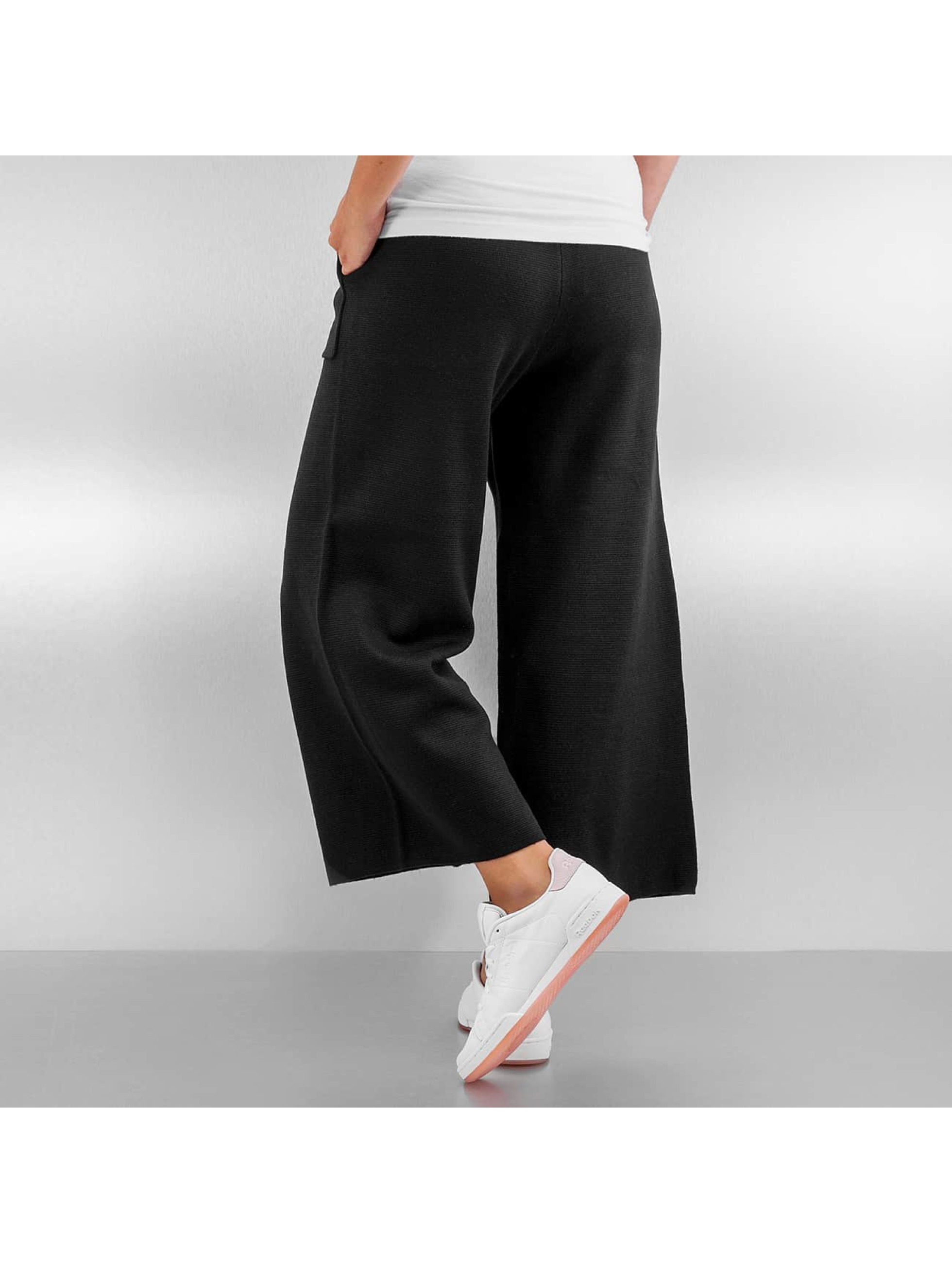 Pieces Chino pcDorthea Culotte schwarz
