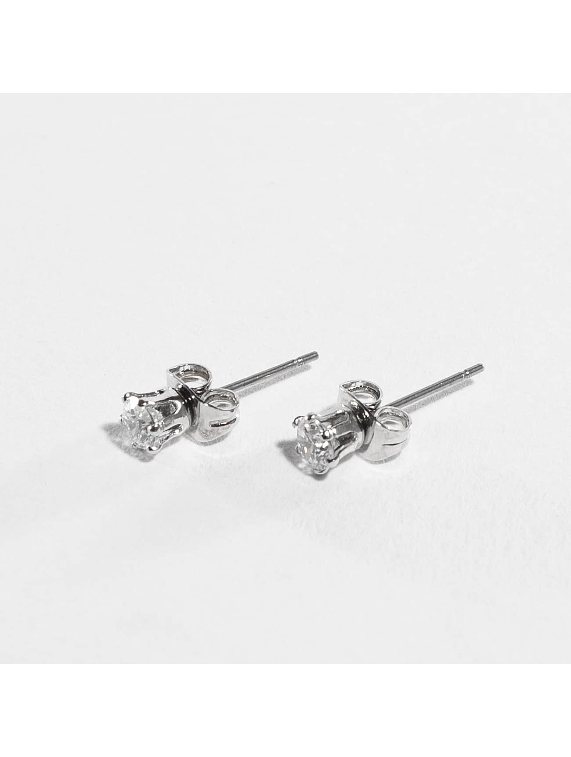 Pieces Earring pcKelly silver colored