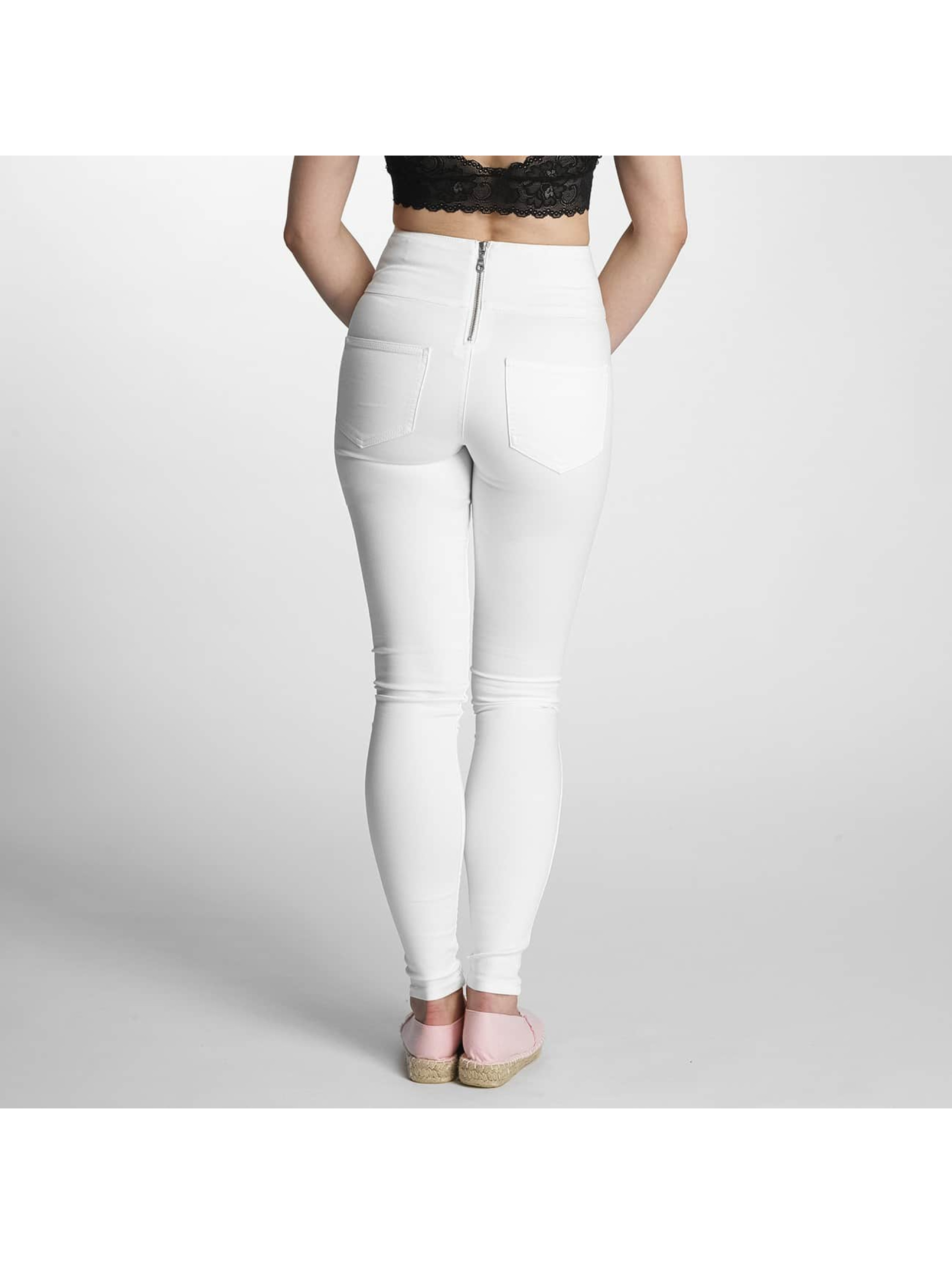 Pieces High Waist Jeans pcJust weiß