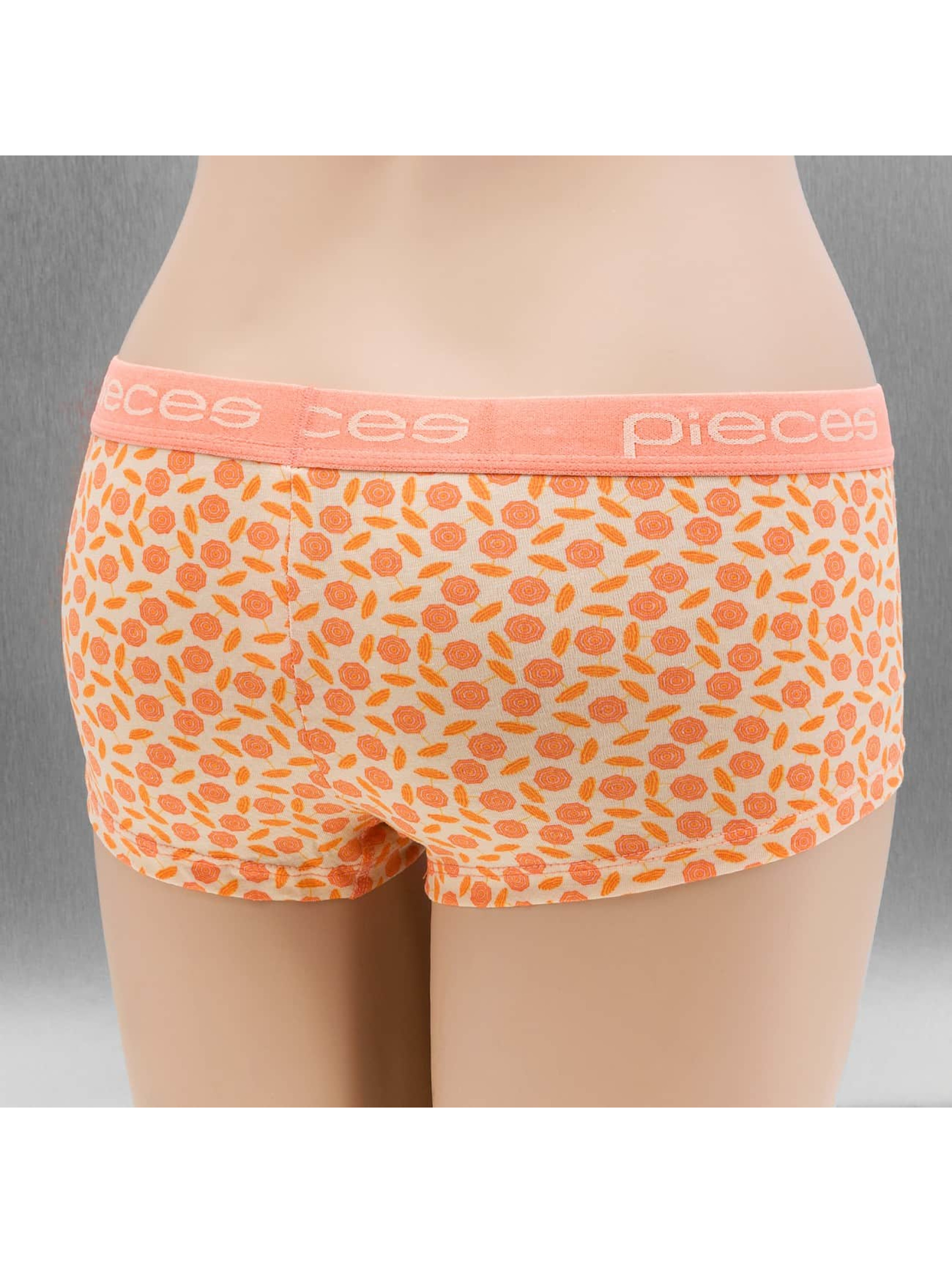 Pieces ondergoed pcLogo Lady oranje