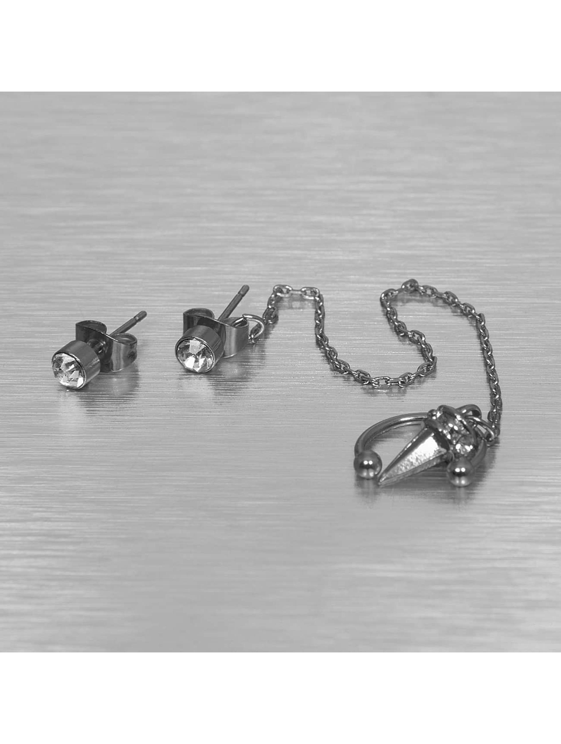 Pieces oorbel pcRona zilver