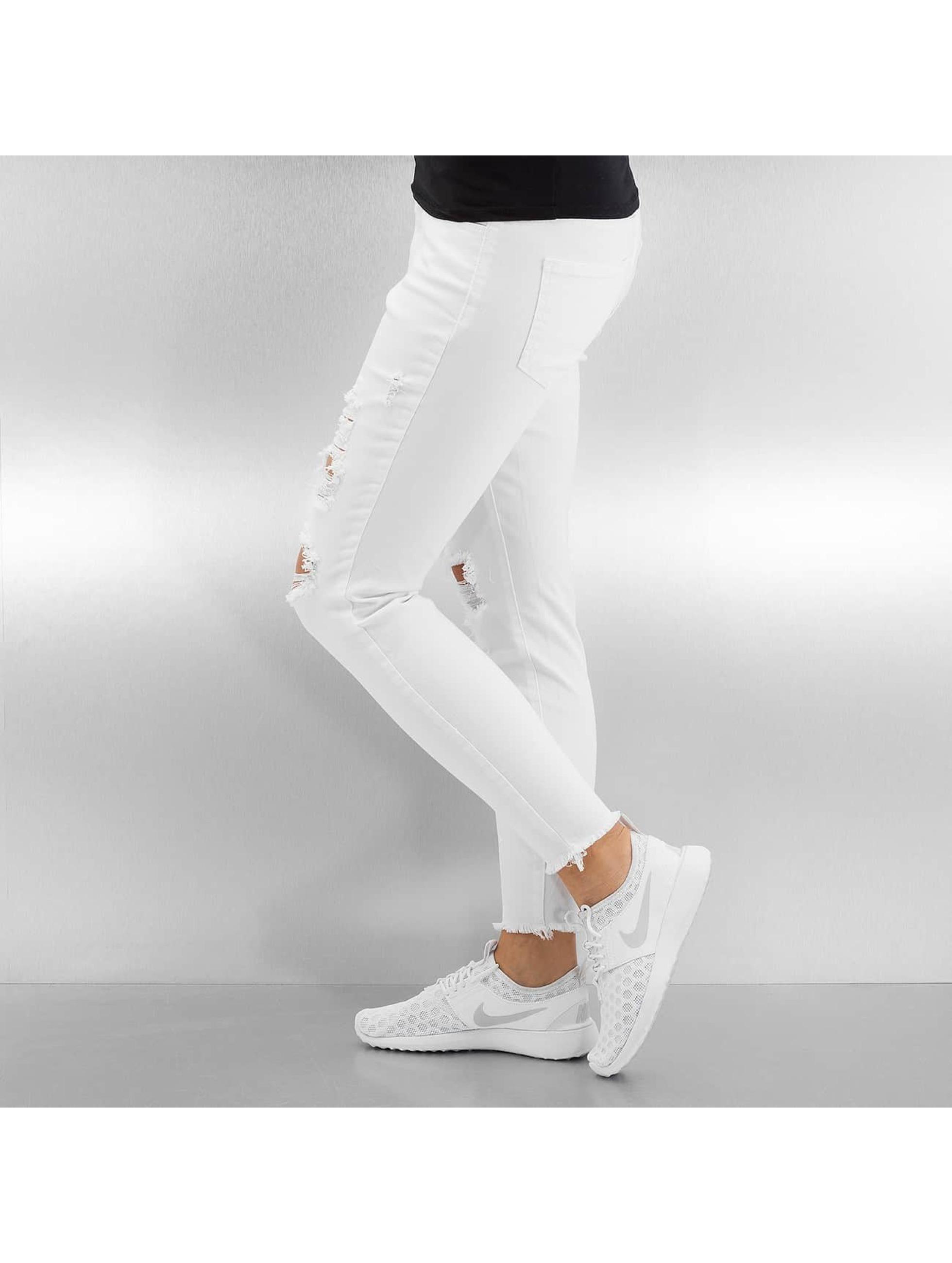 Pieces Pantalon chino pcJust Tilda blanc
