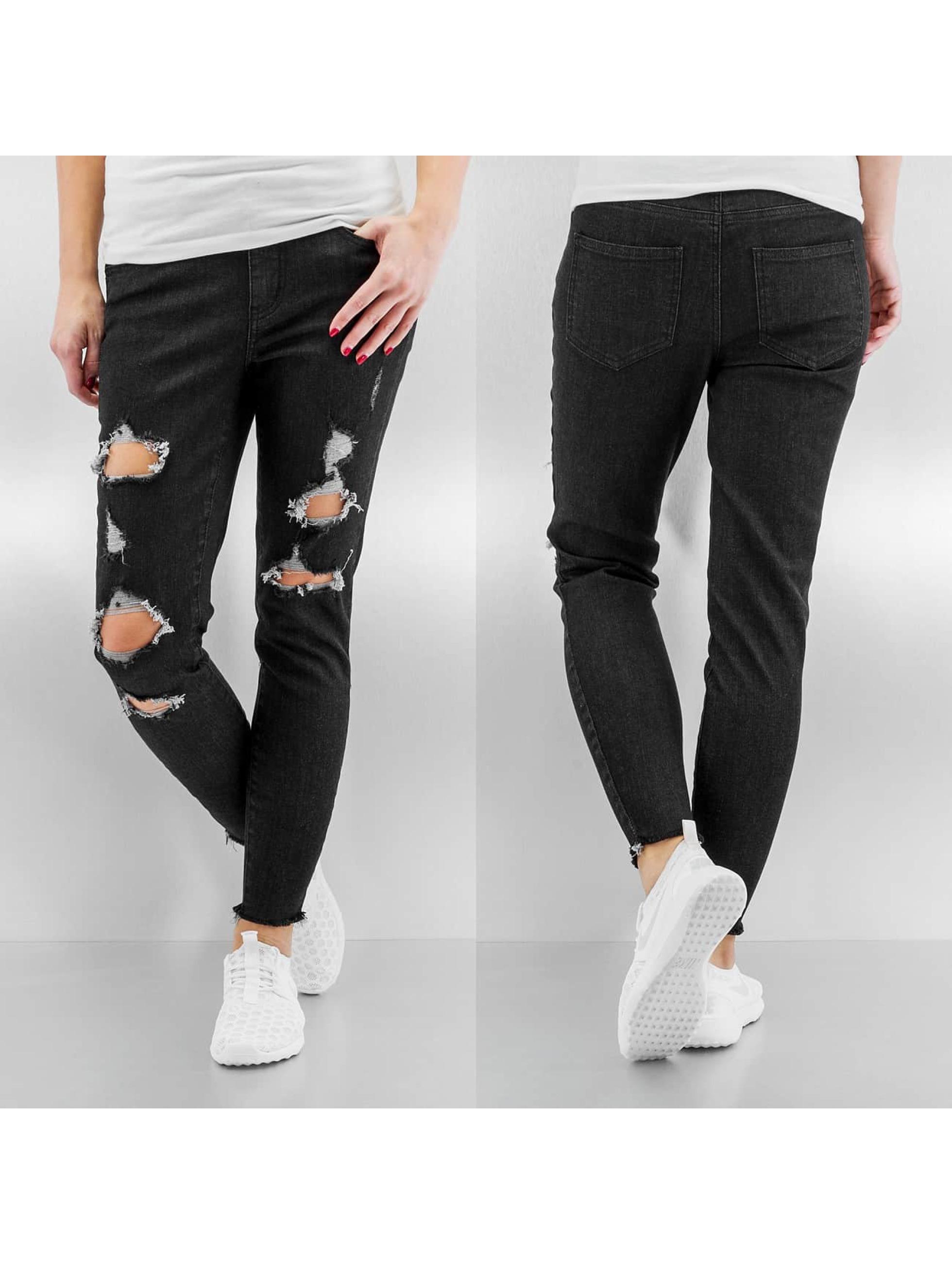 Skinny Jeans pcJust Tilda Cropped in schwarz