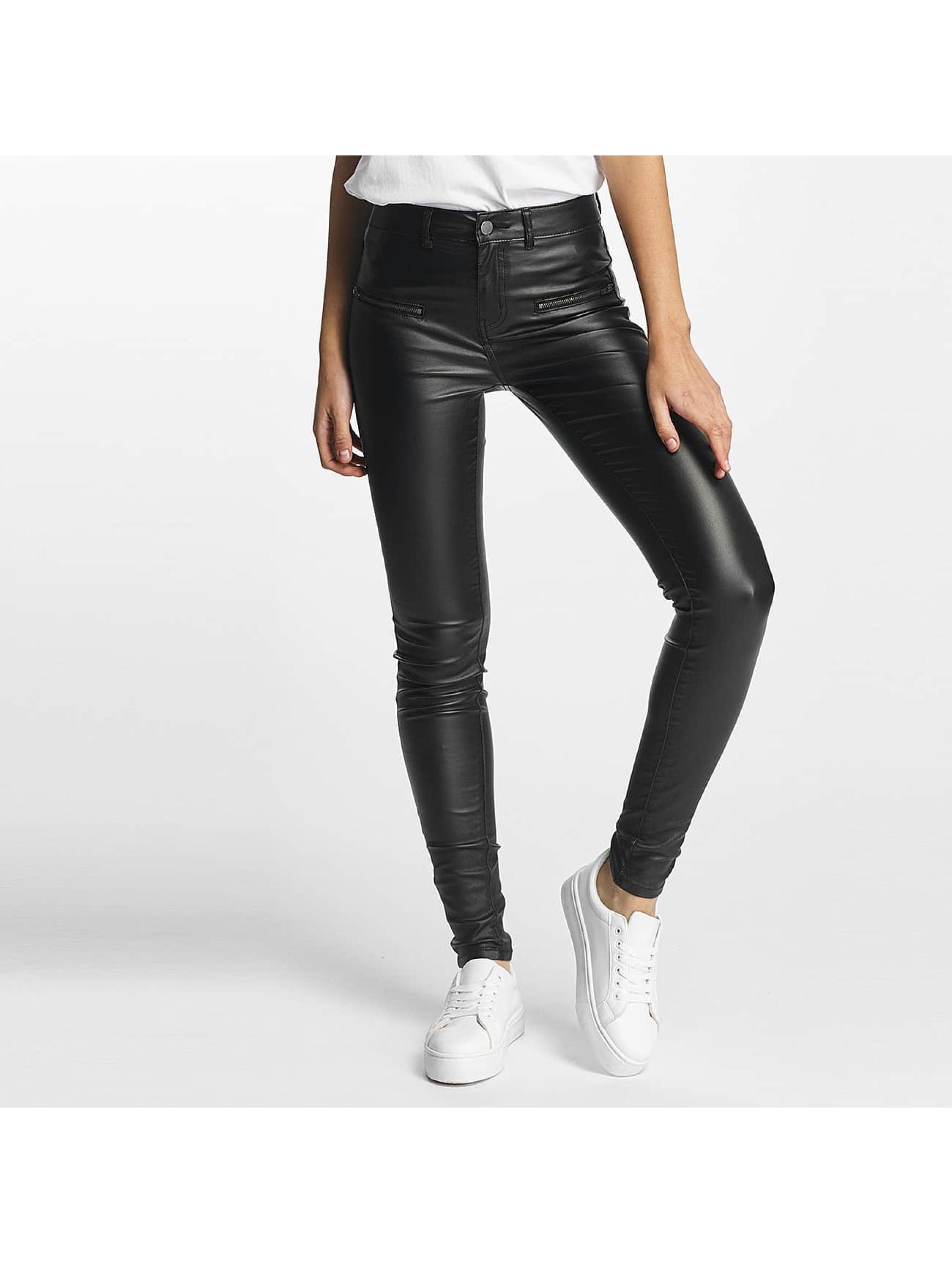 Pieces Skinny jeans pcSkin Betty Coated zwart