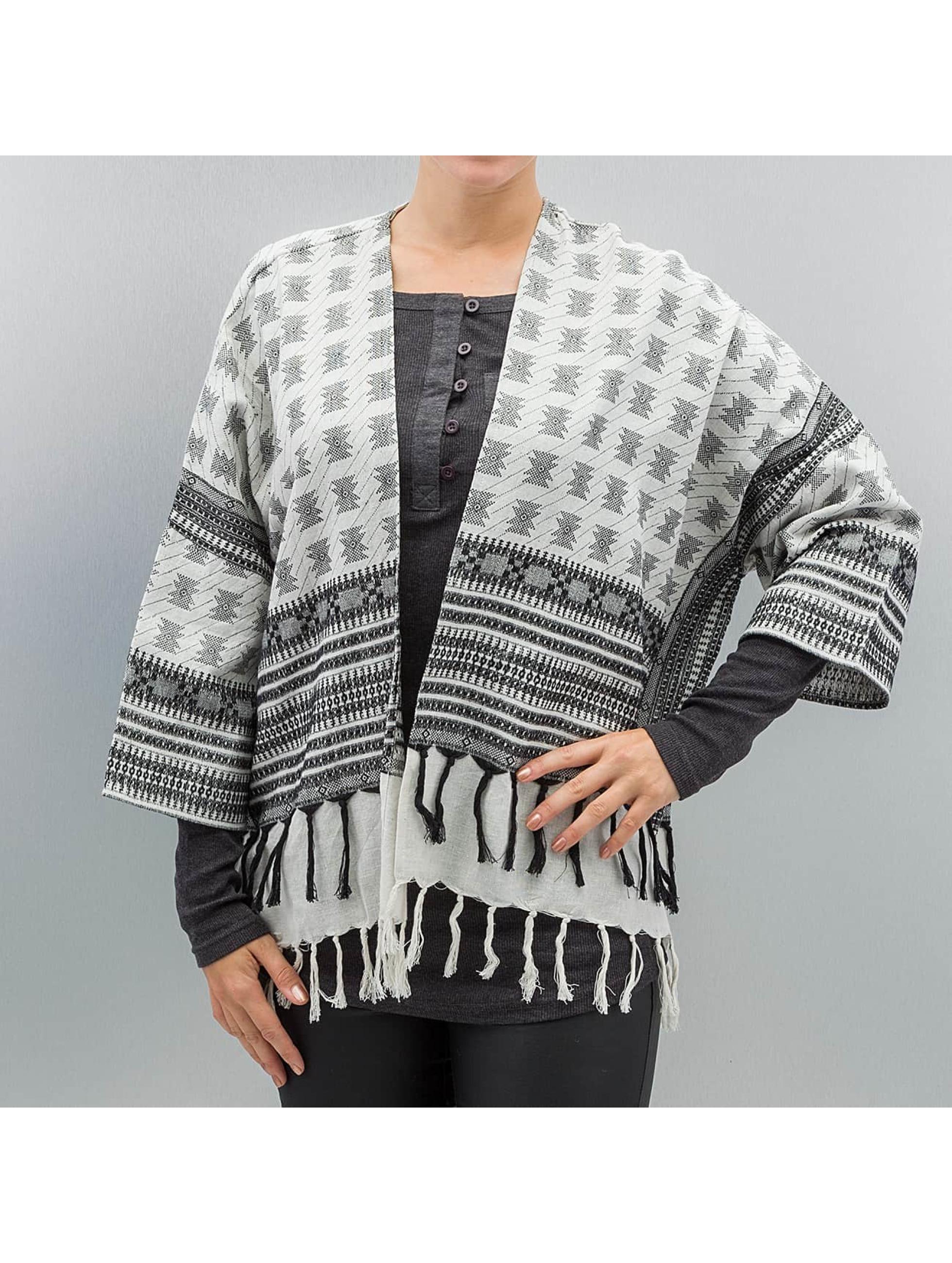 Pieces Swetry rozpinane pcBisla Poncho czarny