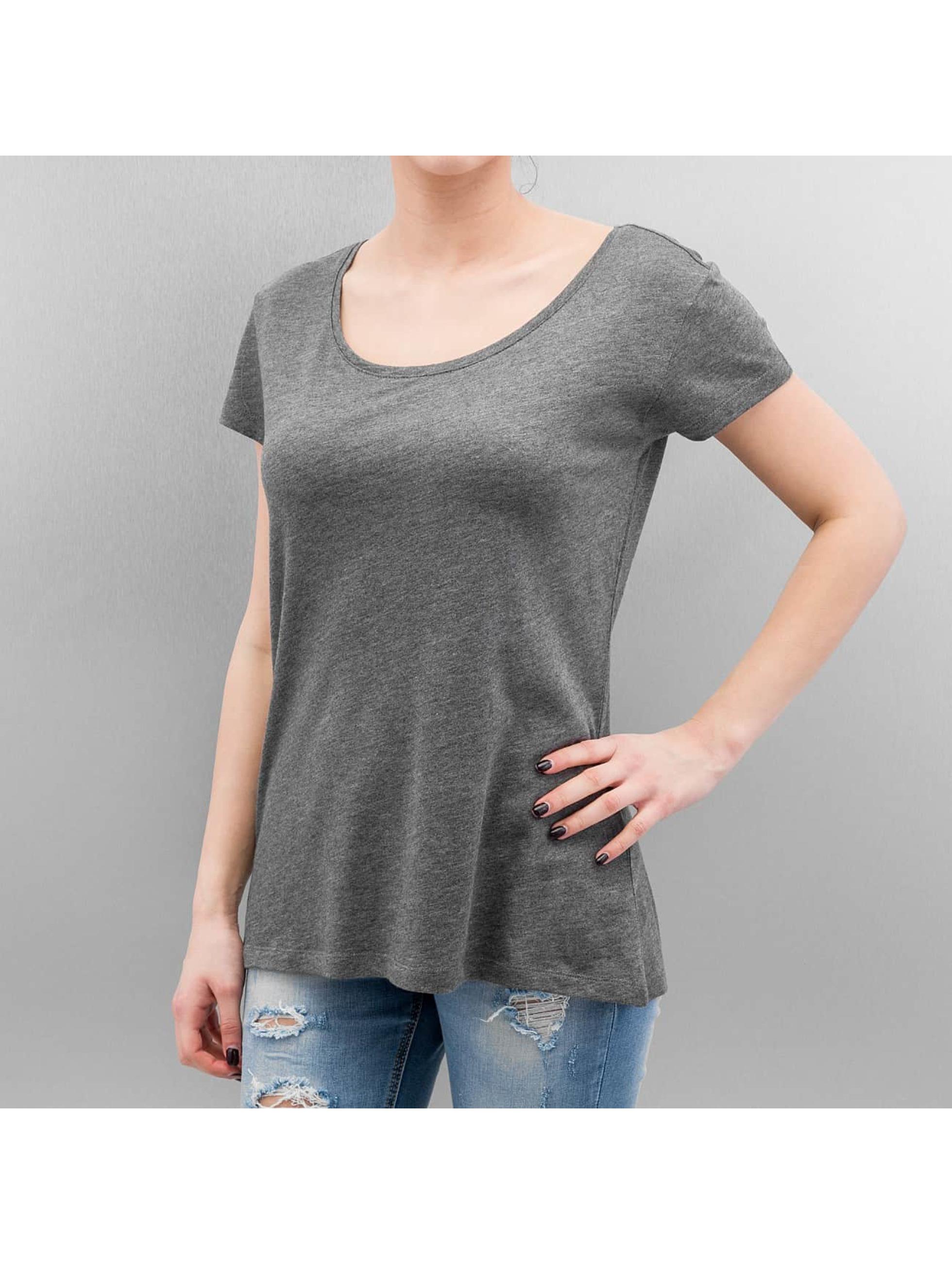 Pieces t-shirt Emma grijs