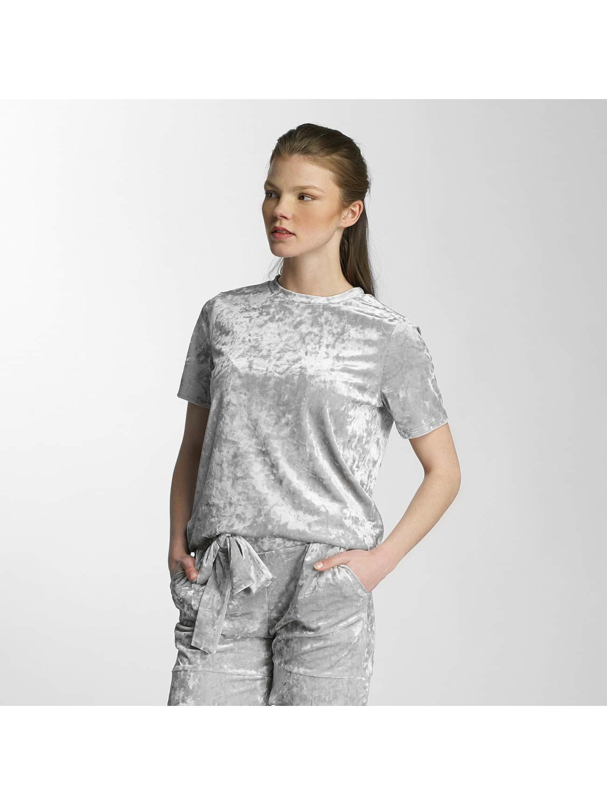 Pieces T-Shirty pcEdith srebrny
