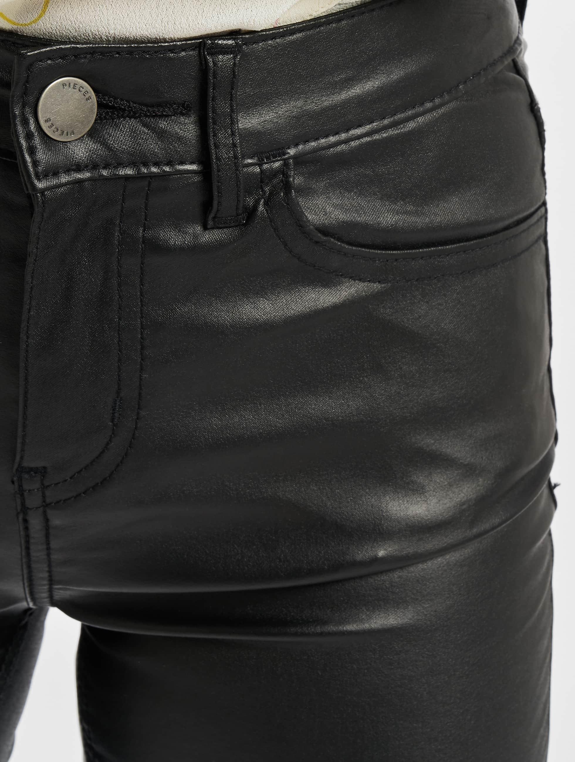 Pieces Tynne bukser PCFive Betty svart