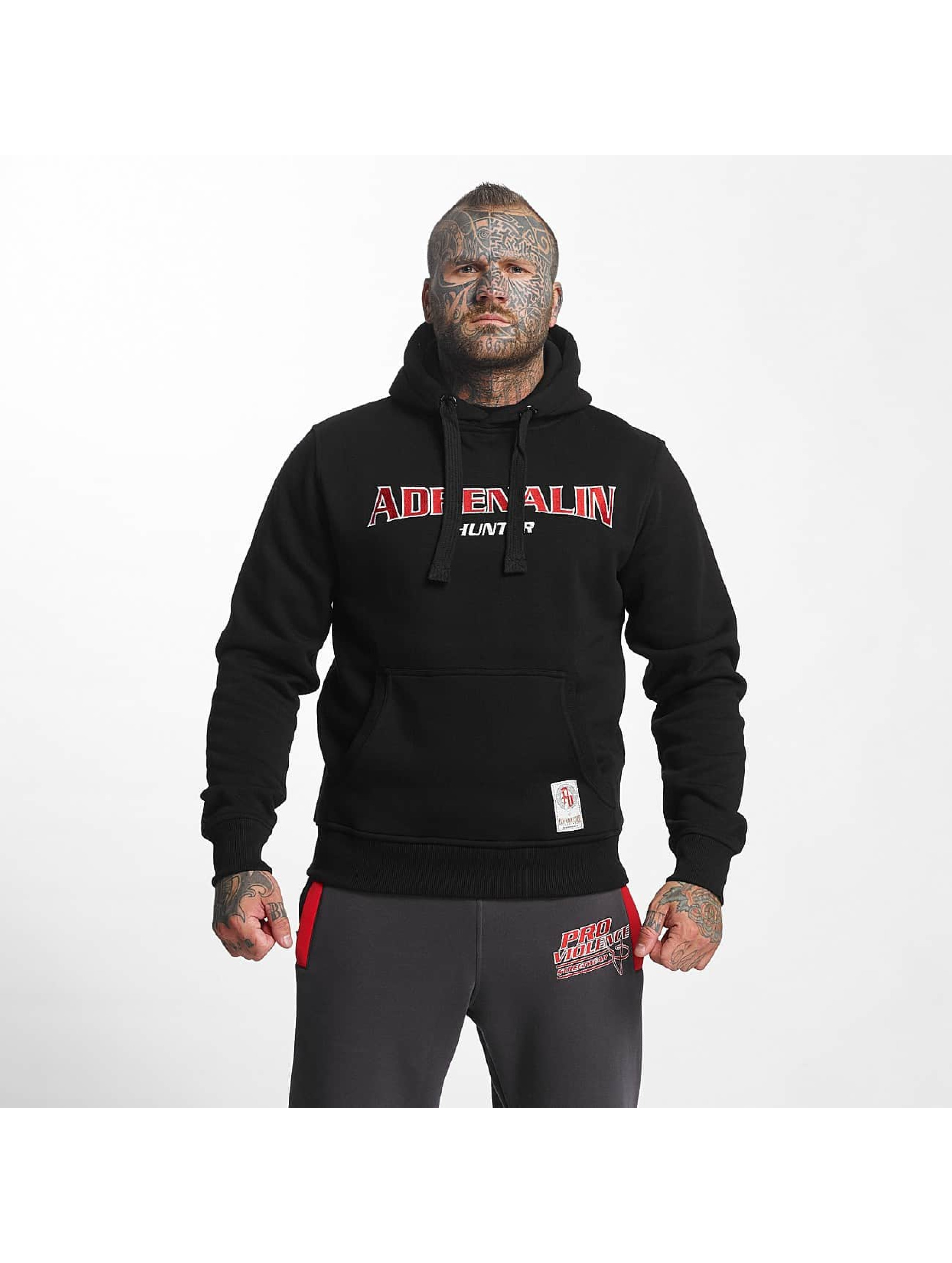 Pro Violence Streetwear Bluzy z kapturem Adrenlin Hunter czarny