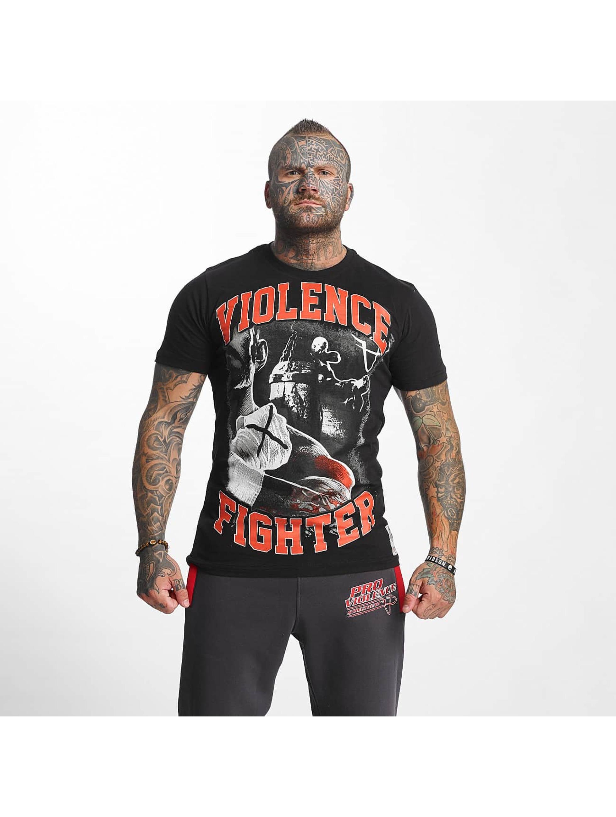 Pro Violence Streetwear Camiseta Fighter negro
