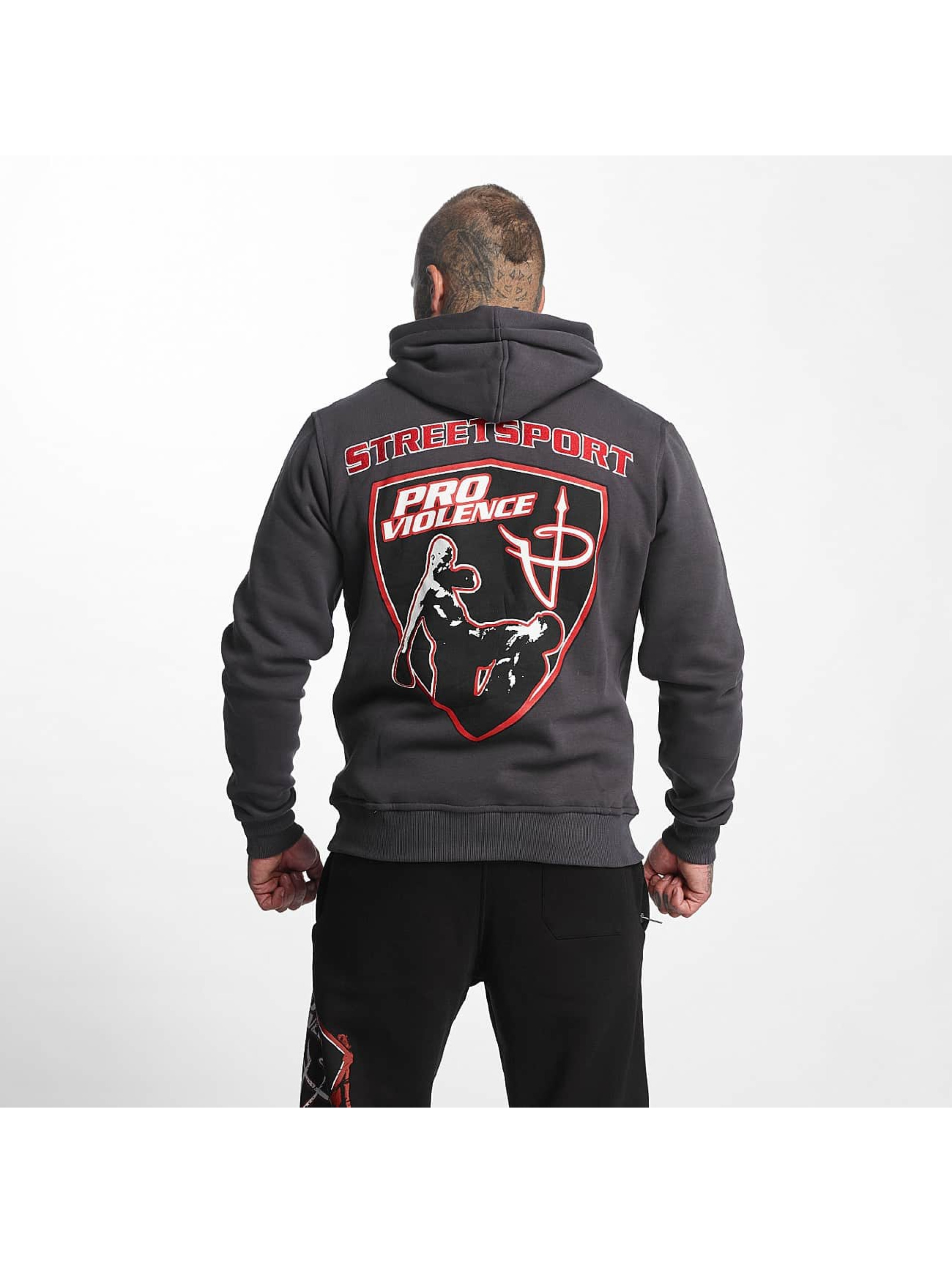 Pro Violence Streetwear Hettegensre Adrenlin Hunter grå