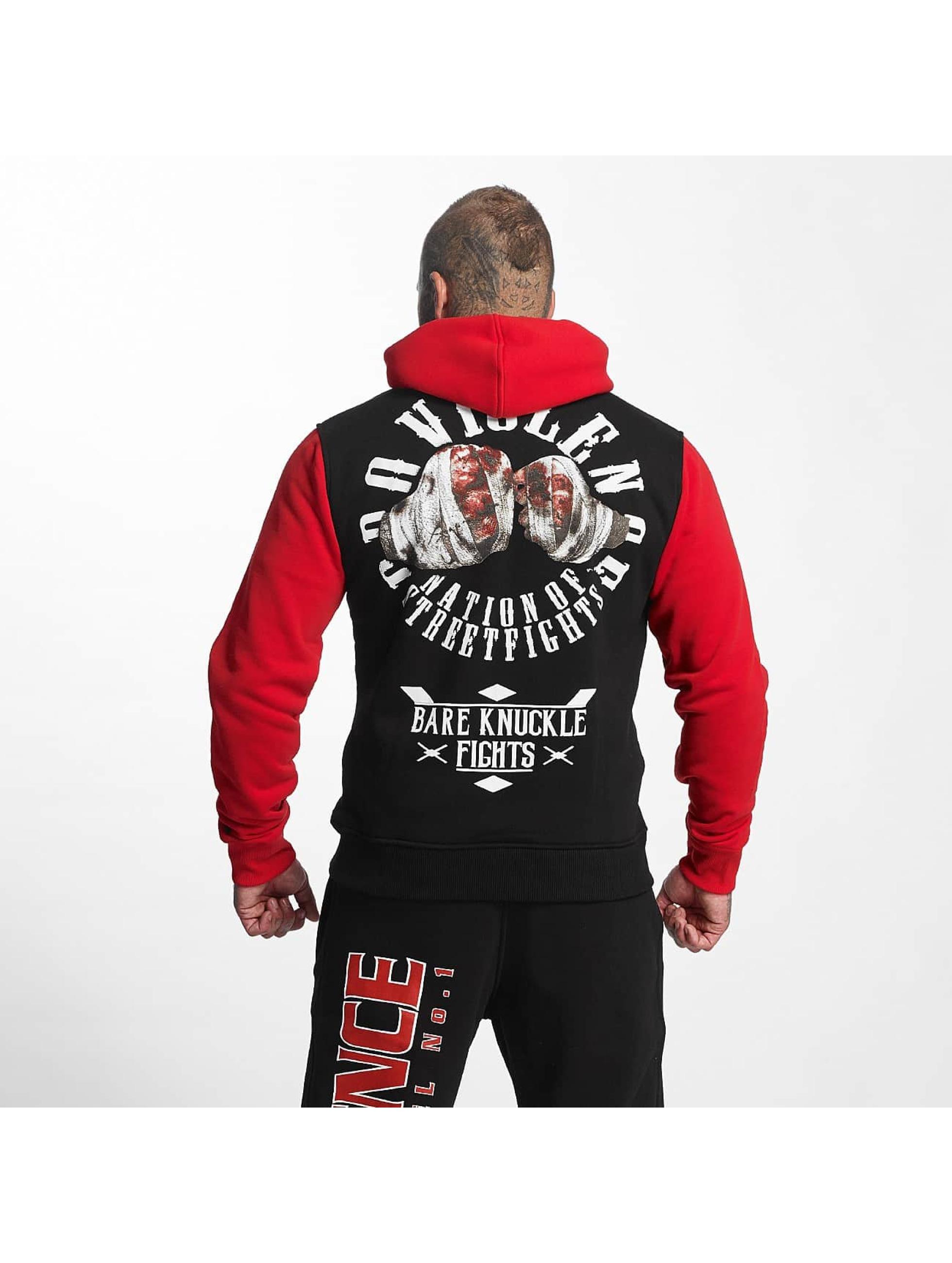 Pro Violence Streetwear Hettegensre Nuckle Bare svart