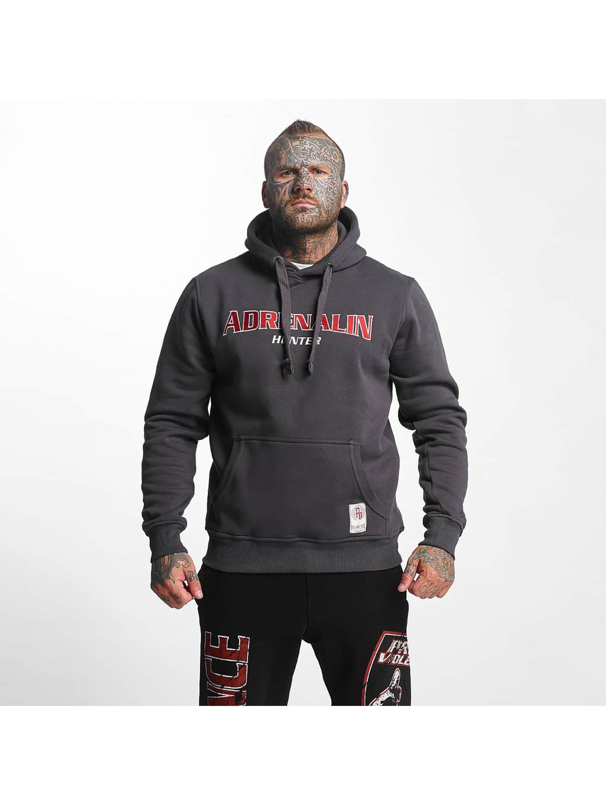 Pro Violence Streetwear Hoodie Adrenlin Hunter gray