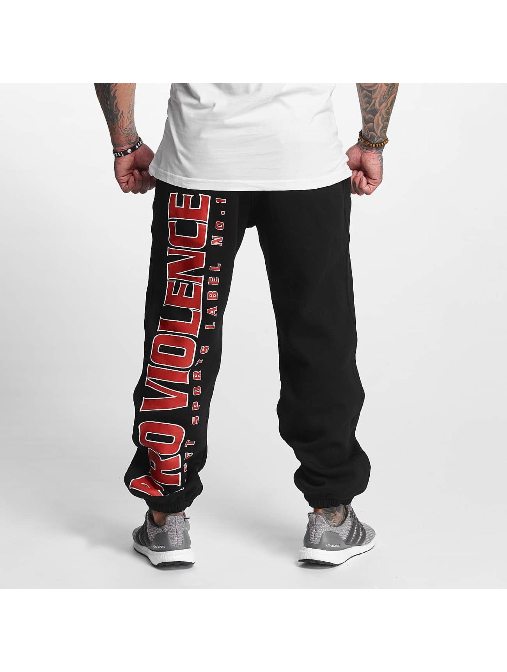 Pro Violence Streetwear Jogging Label No. 1 noir