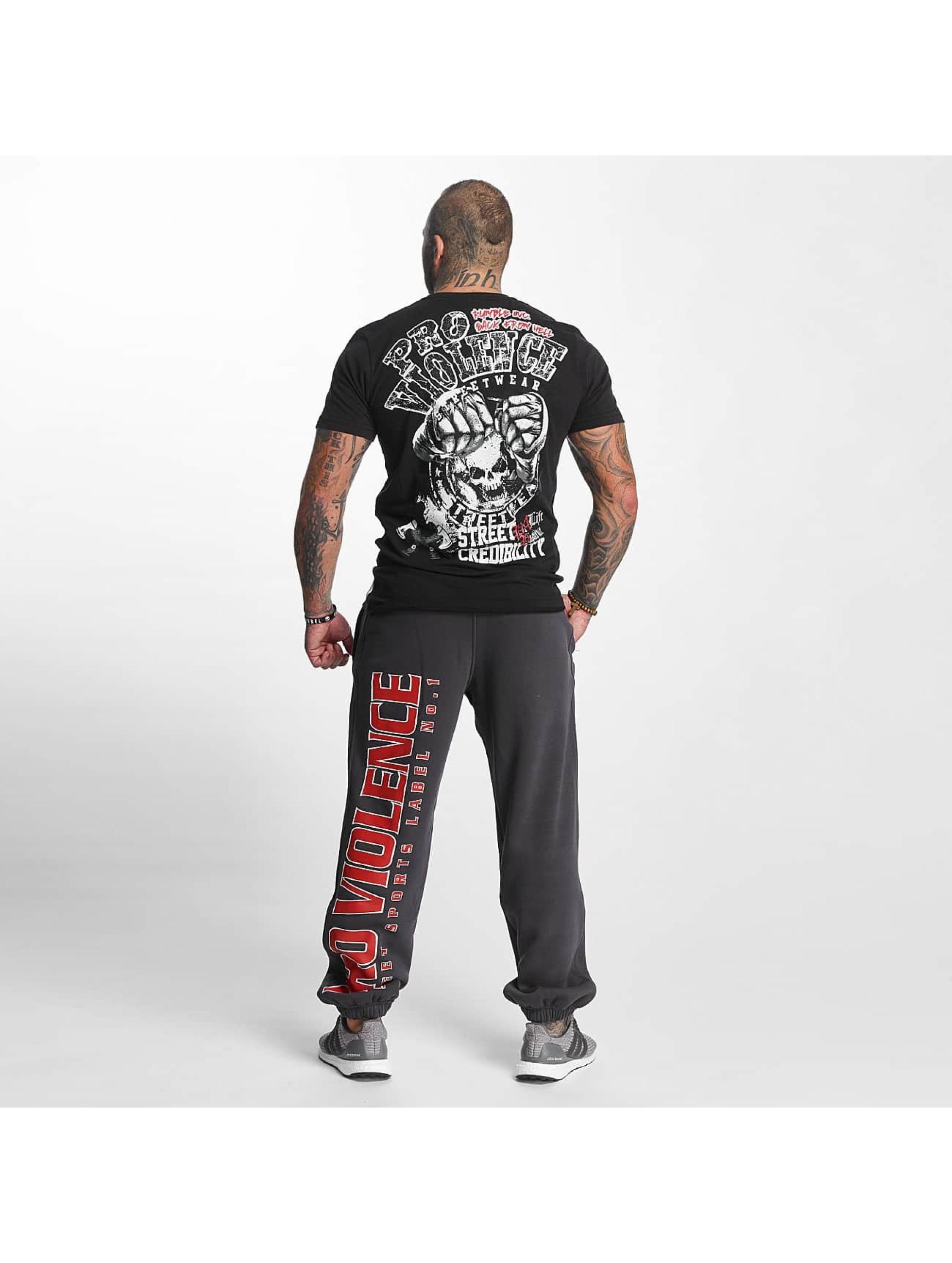 Pro Violence Streetwear Jogginghose Label No. 1 grau