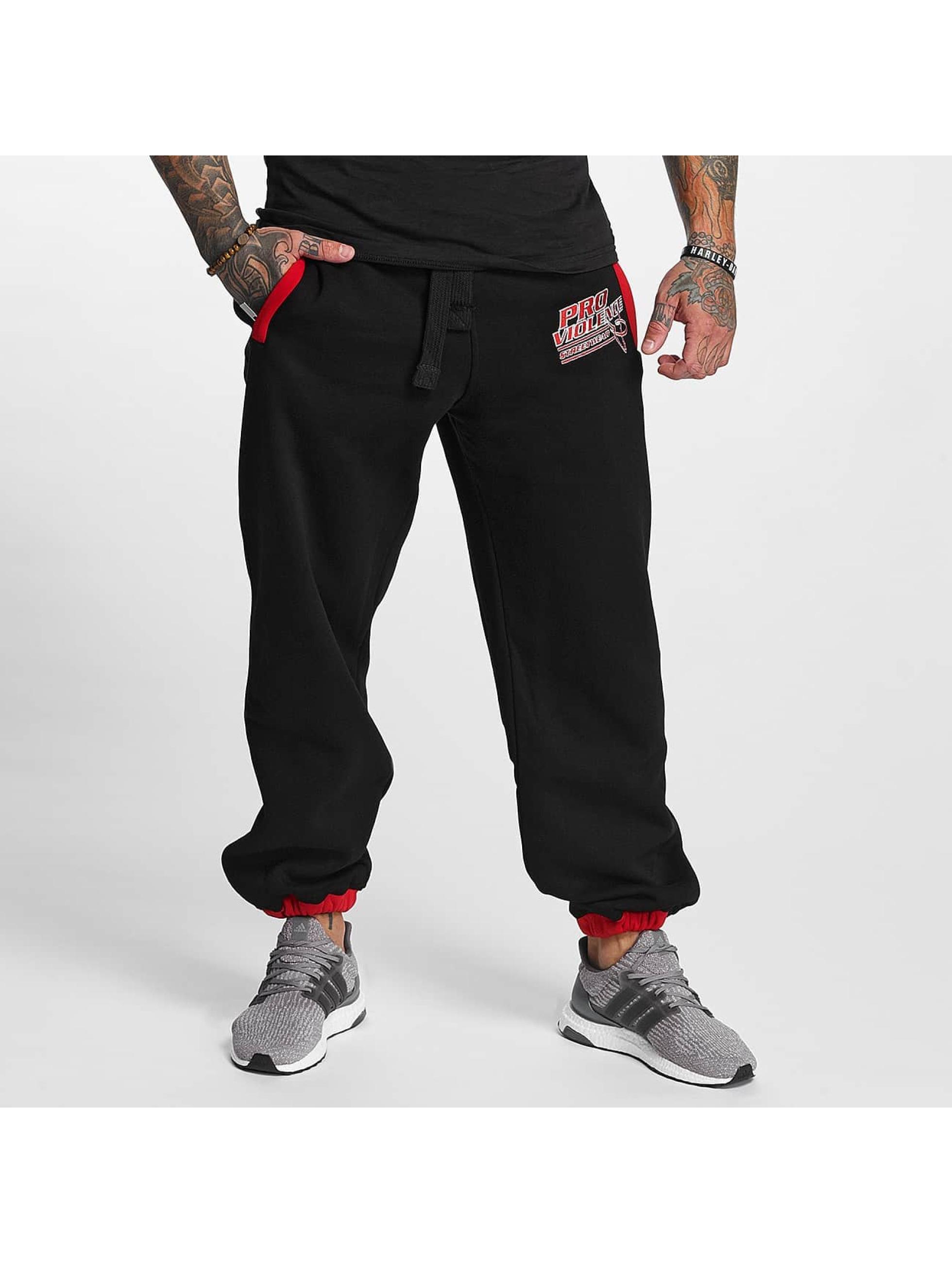 Pro Violence Streetwear Jogginghose Streetwear Sport schwarz