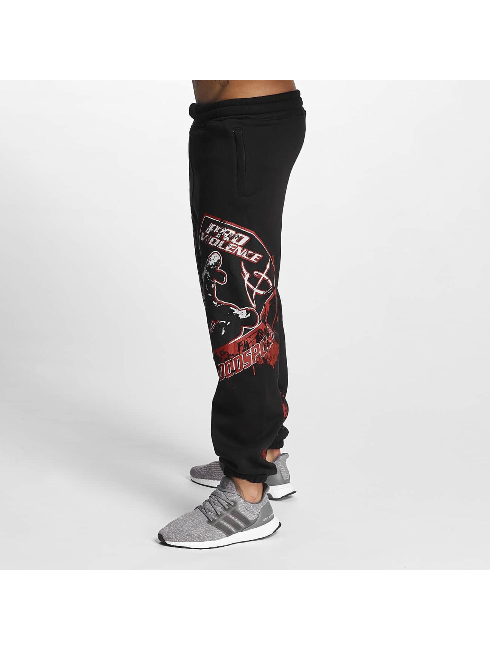 Pro Violence Streetwear Jogginghose Bloodsport schwarz