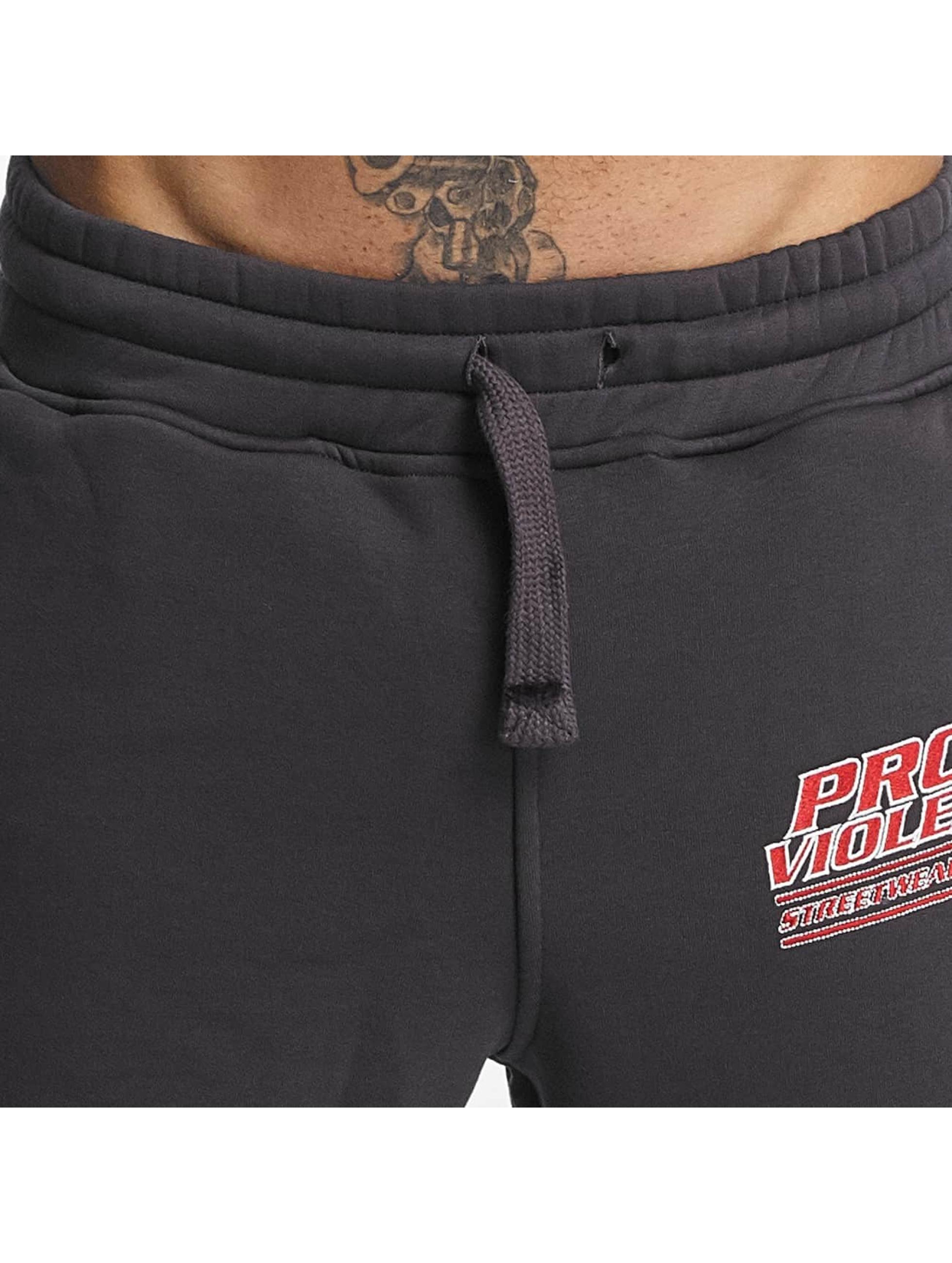 Pro Violence Streetwear Pantalón deportivo Label No. 1 gris
