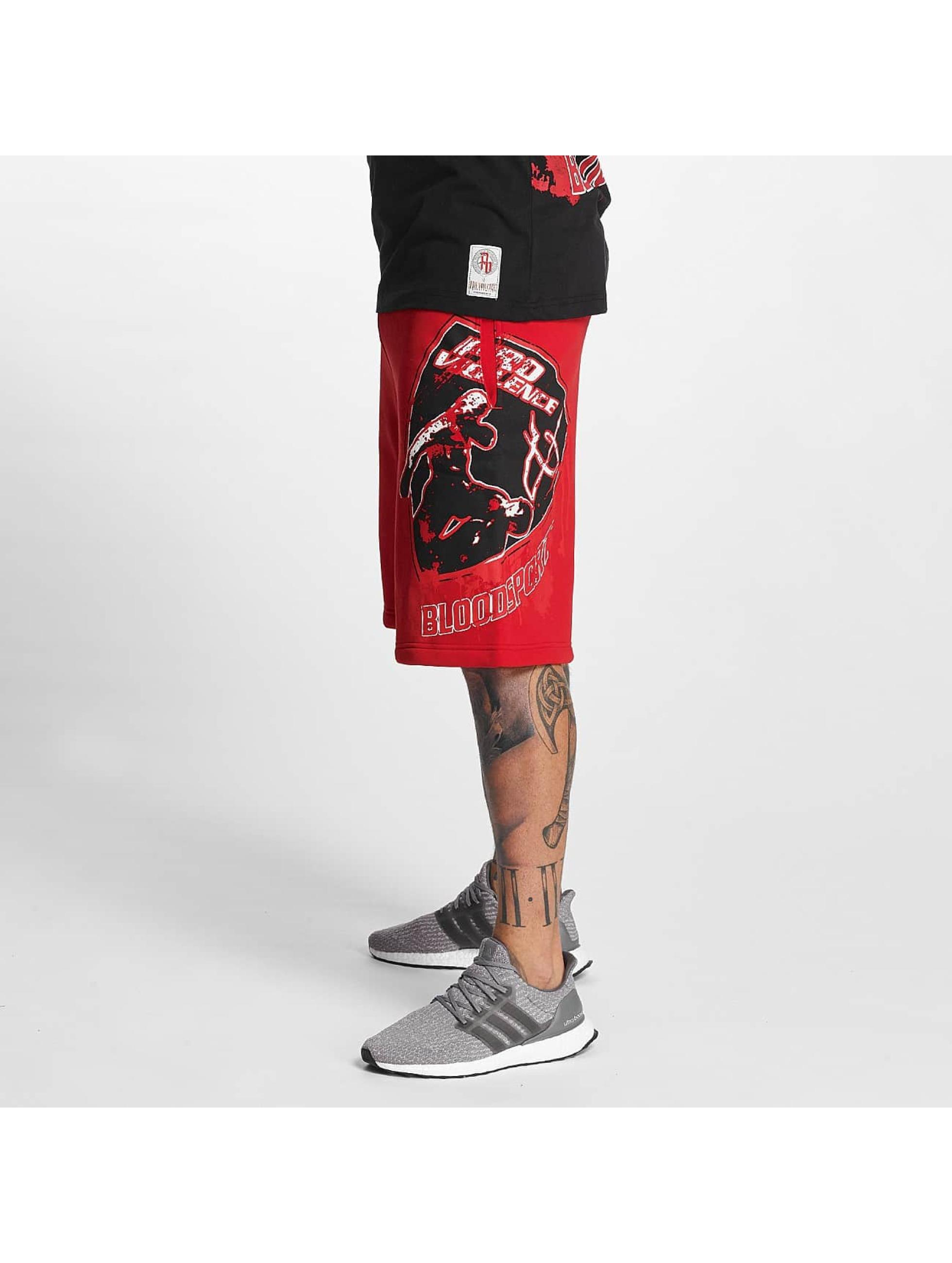 Pro Violence Streetwear Shortsit Bloodsport punainen