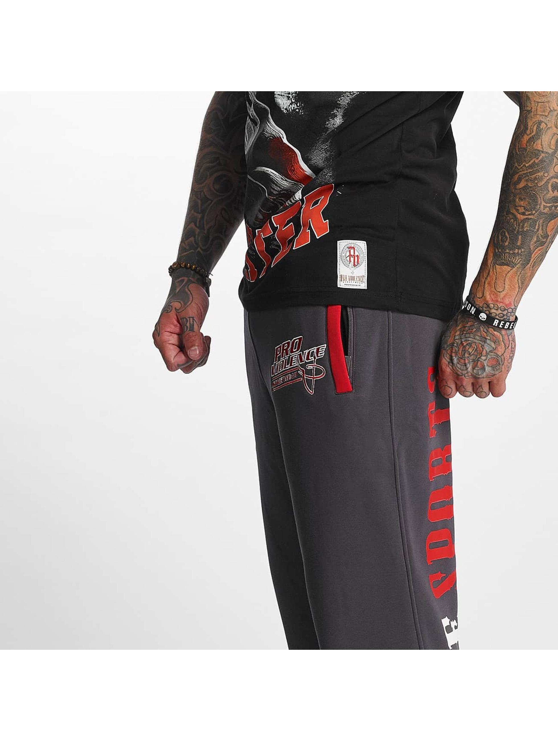 Pro Violence Streetwear Spodnie do joggingu Sport szary