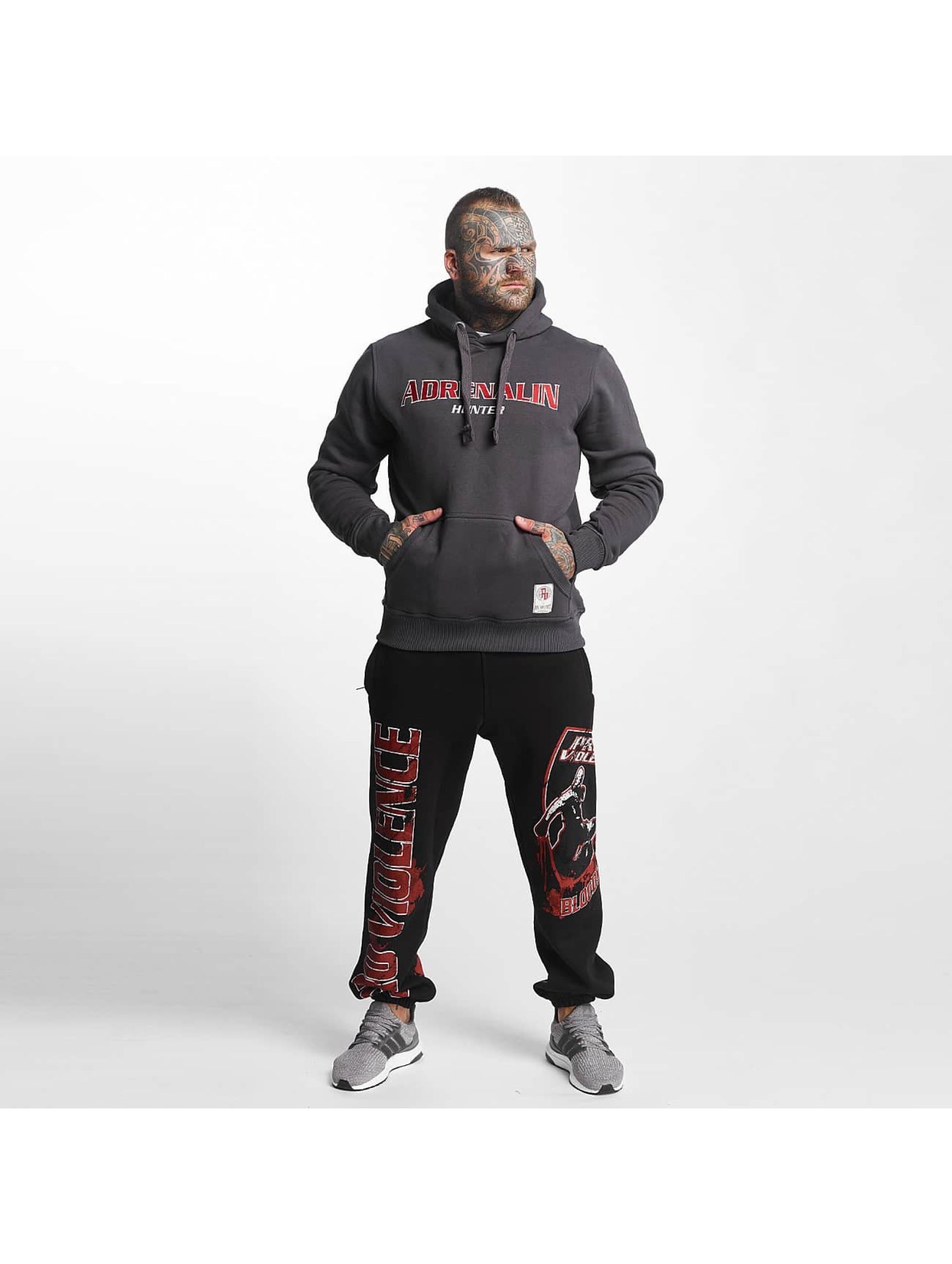 Pro Violence Streetwear Sweat capuche Adrenlin Hunter gris