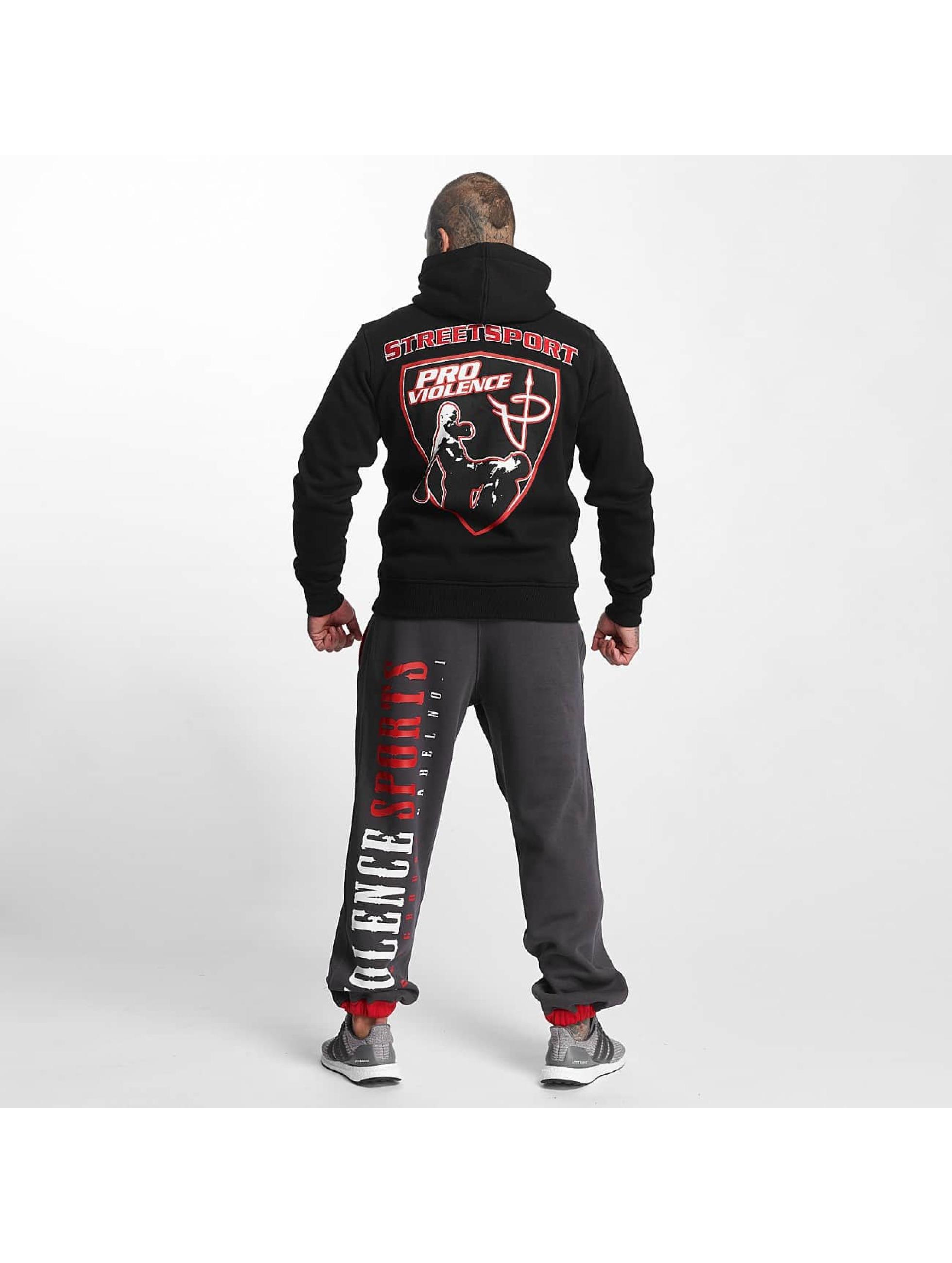 Pro Violence Streetwear Sweat capuche Adrenlin Hunter noir