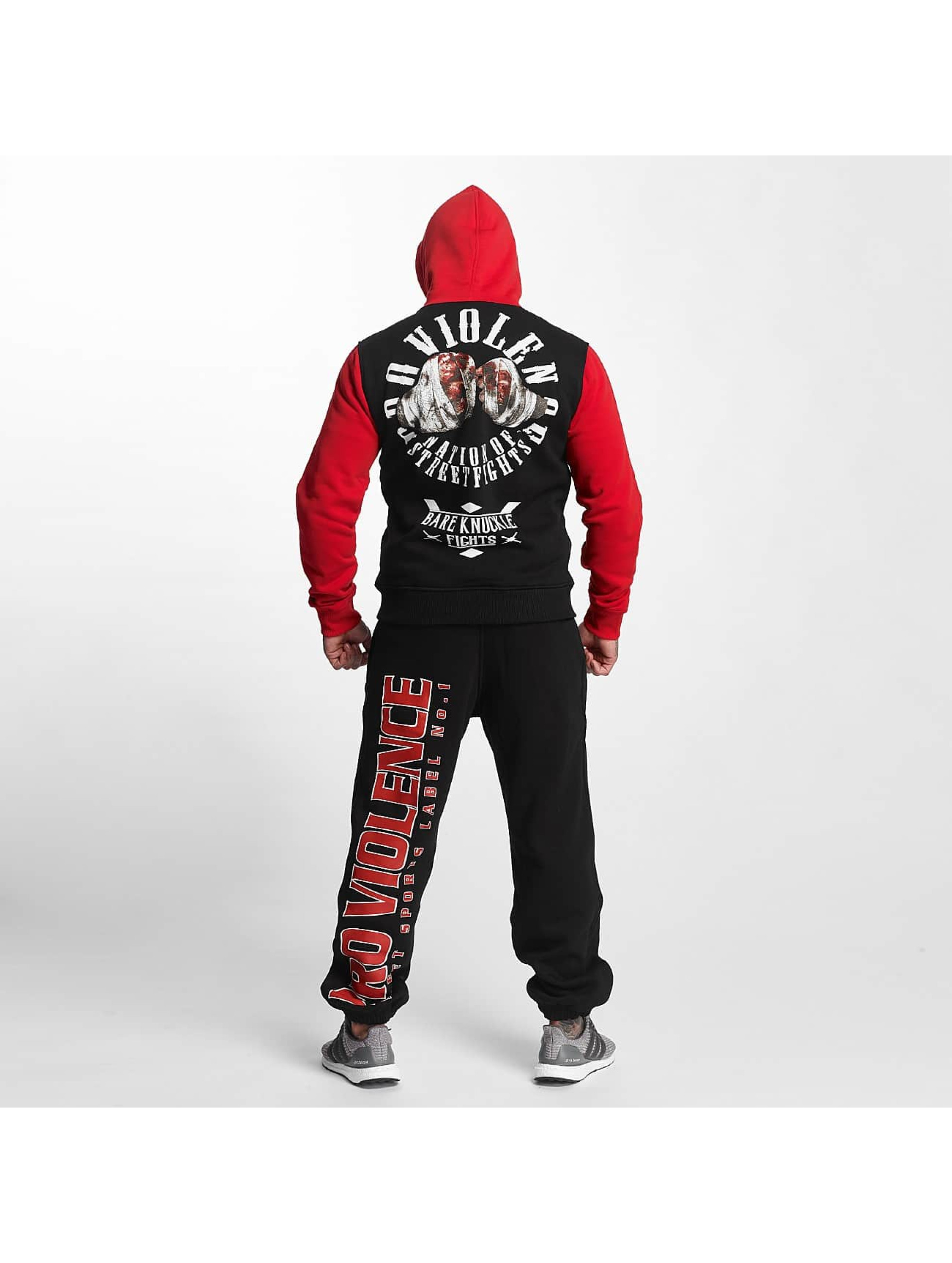 Pro Violence Streetwear Sweat capuche Nuckle Bare noir