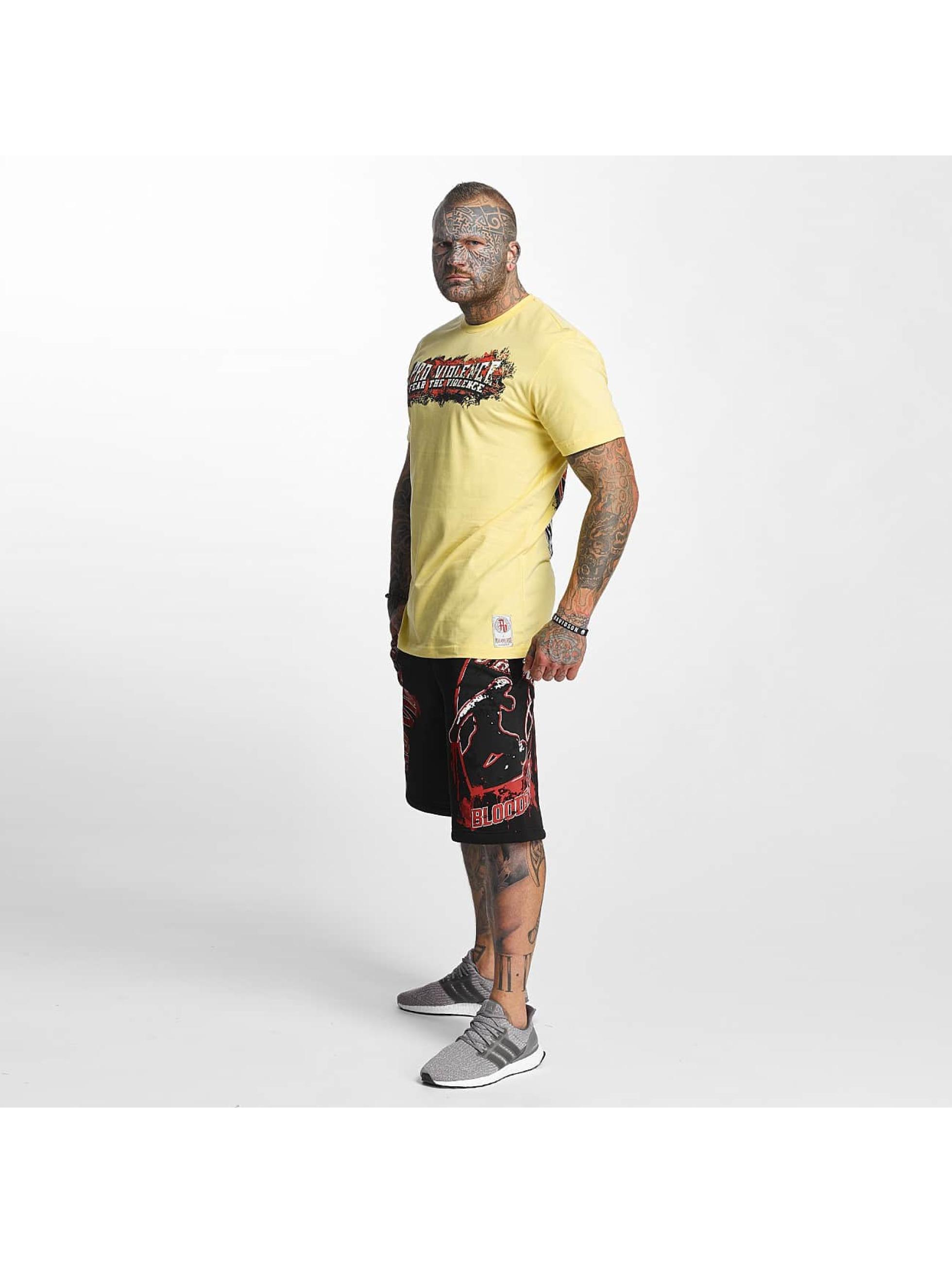 Pro Violence Streetwear T-paidat The Violence Fear keltainen