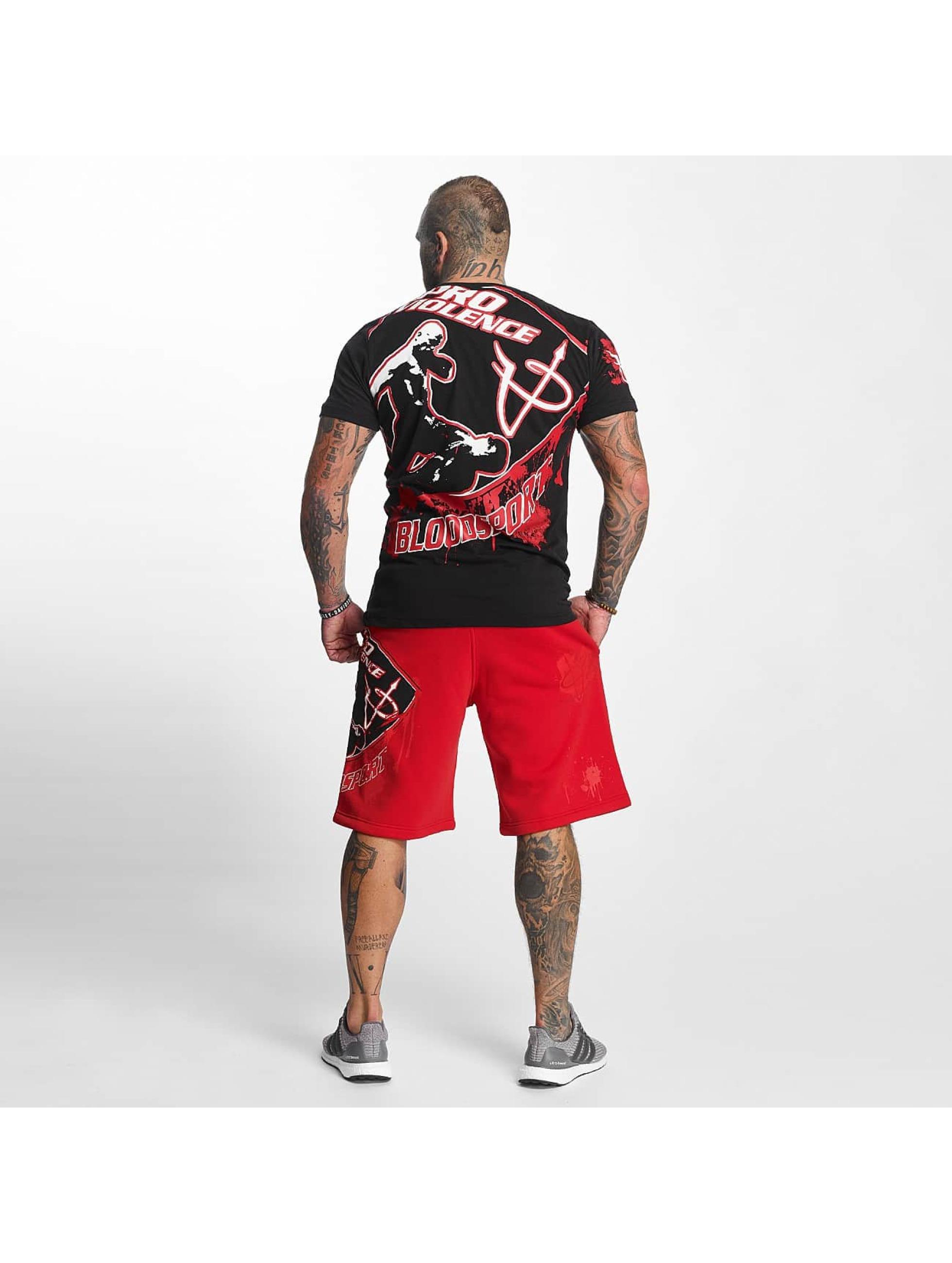 Pro Violence Streetwear T-paidat Bloodsport musta