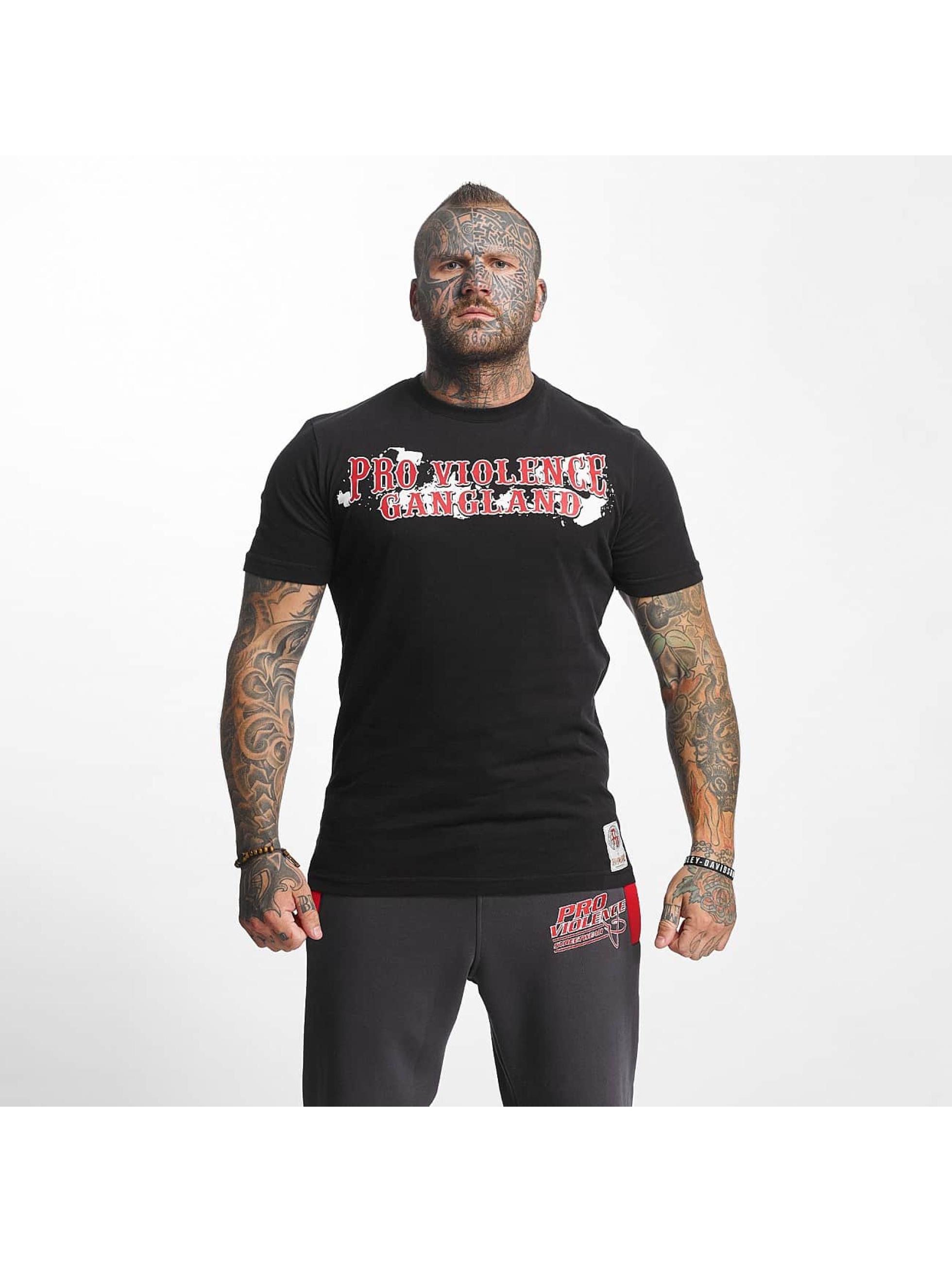 Pro Violence Streetwear T-paidat Gangland musta