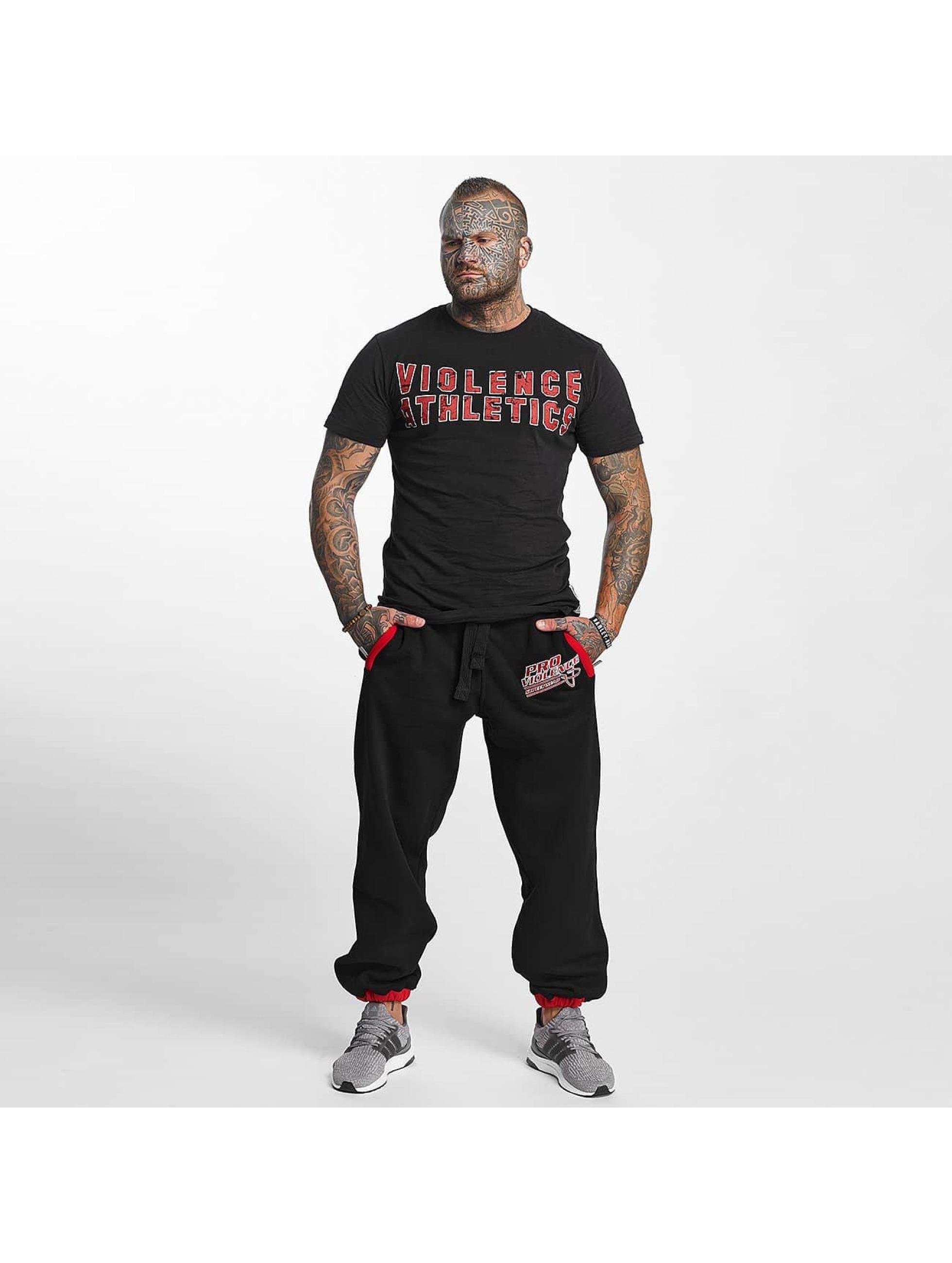 Pro Violence Streetwear T-paidat Streetwear Athletics musta