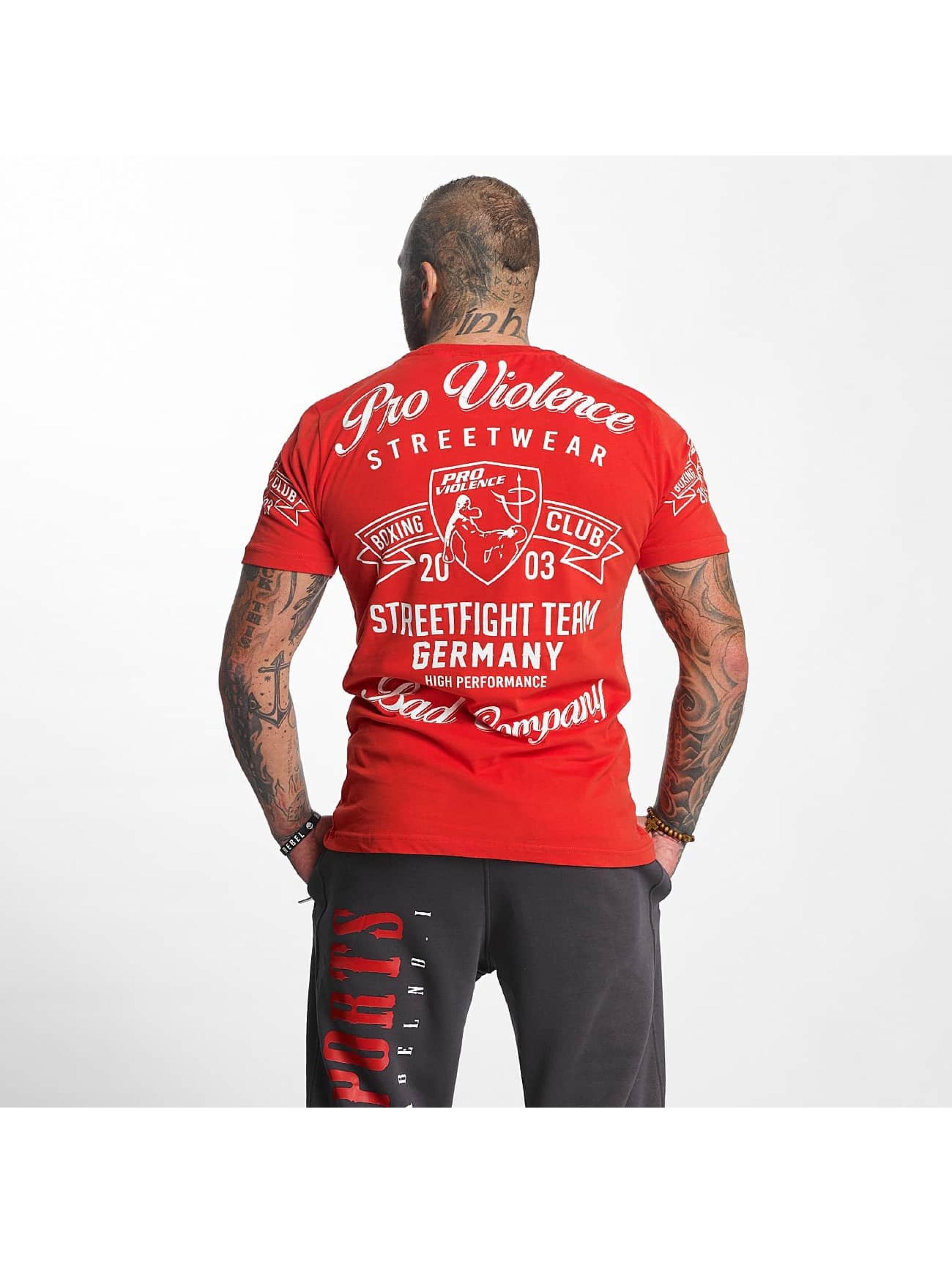 Pro Violence Streetwear T-paidat Streetwear Boxing Club punainen