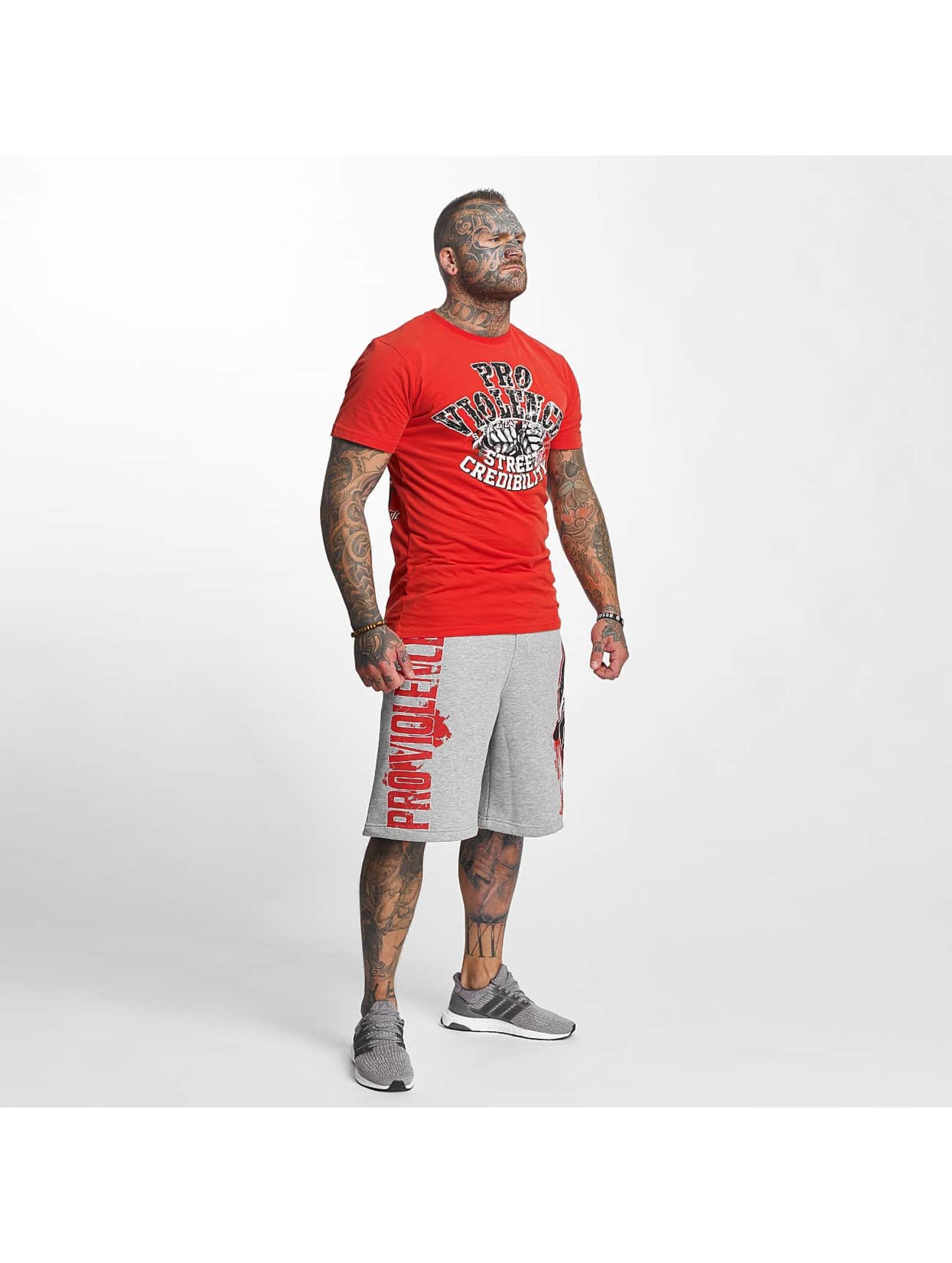 Pro Violence Streetwear T-paidat Street Ceidbilty punainen
