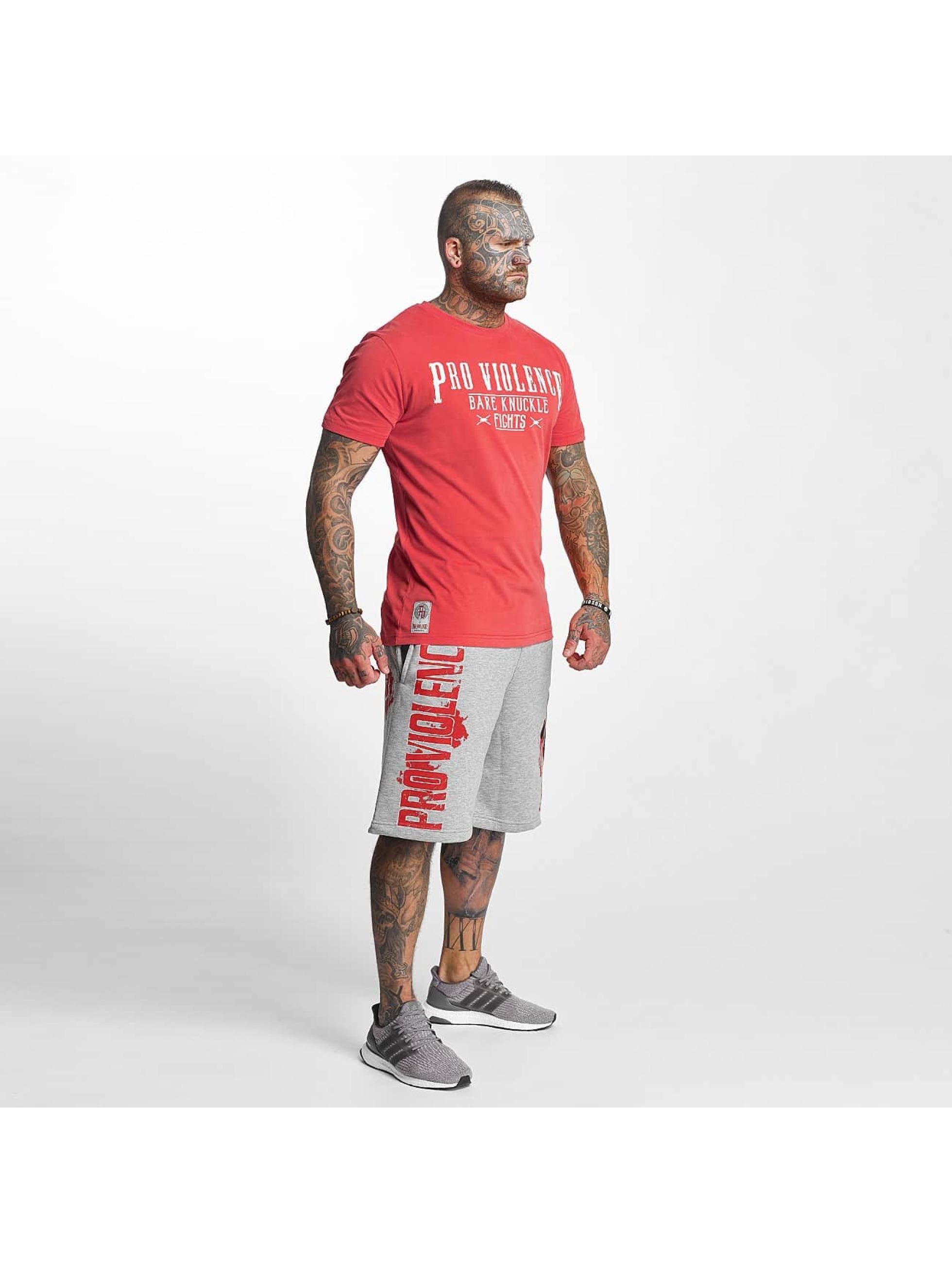 Pro Violence Streetwear T-paidat Knuckle Bare punainen