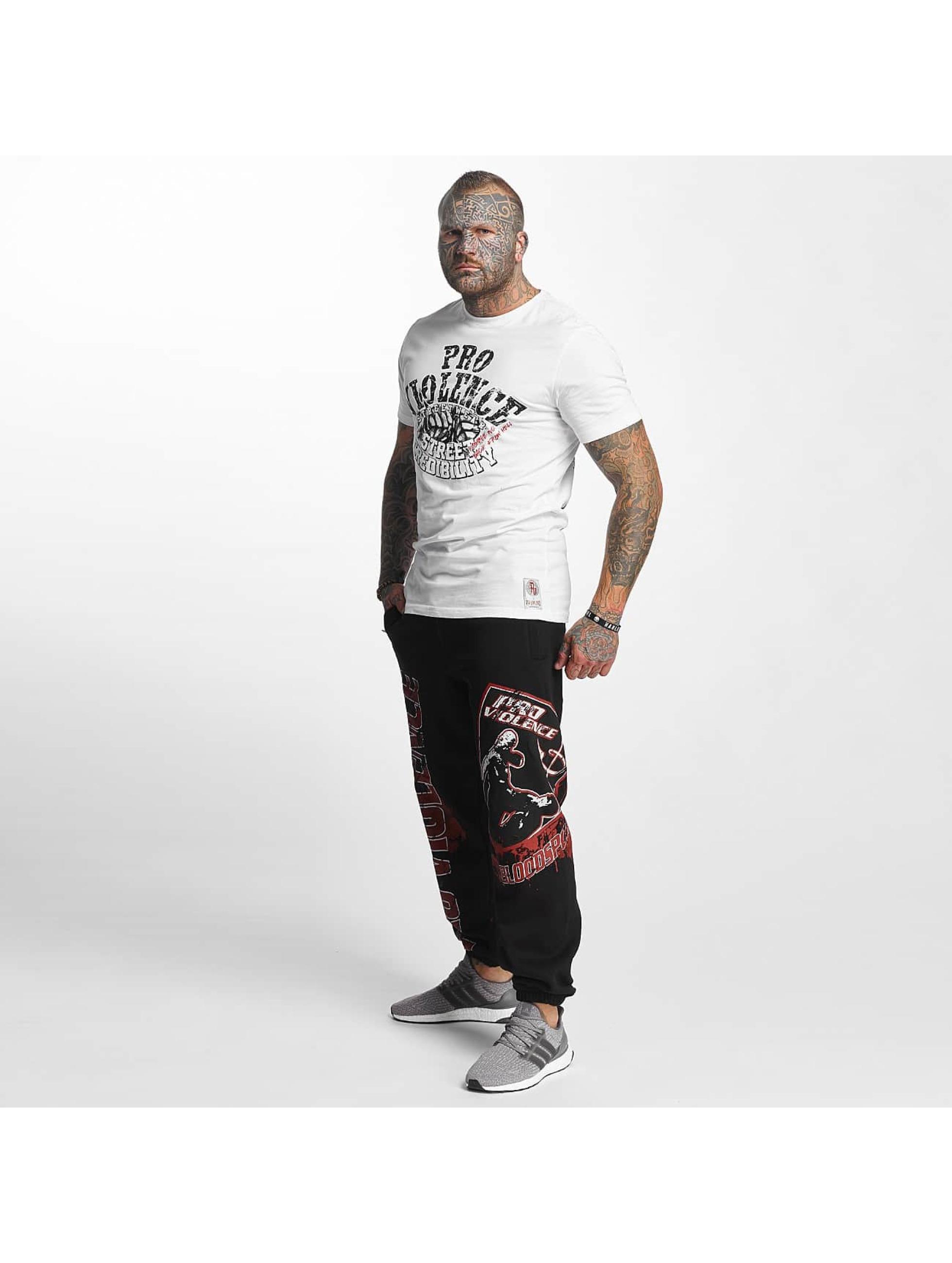 Pro Violence Streetwear T-paidat Street Credibility valkoinen