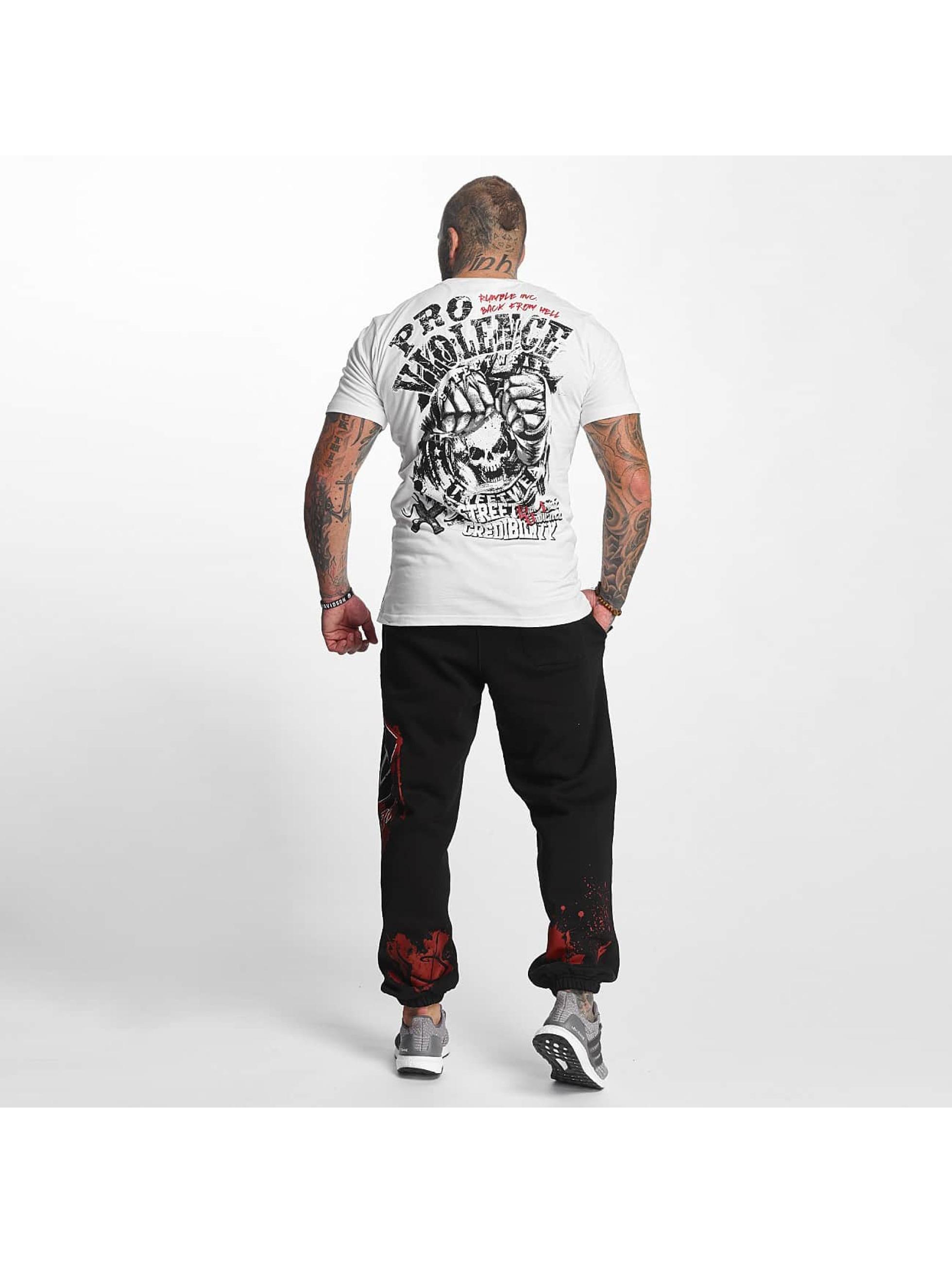 Pro Violence Streetwear T-Shirt Street Credibility blanc