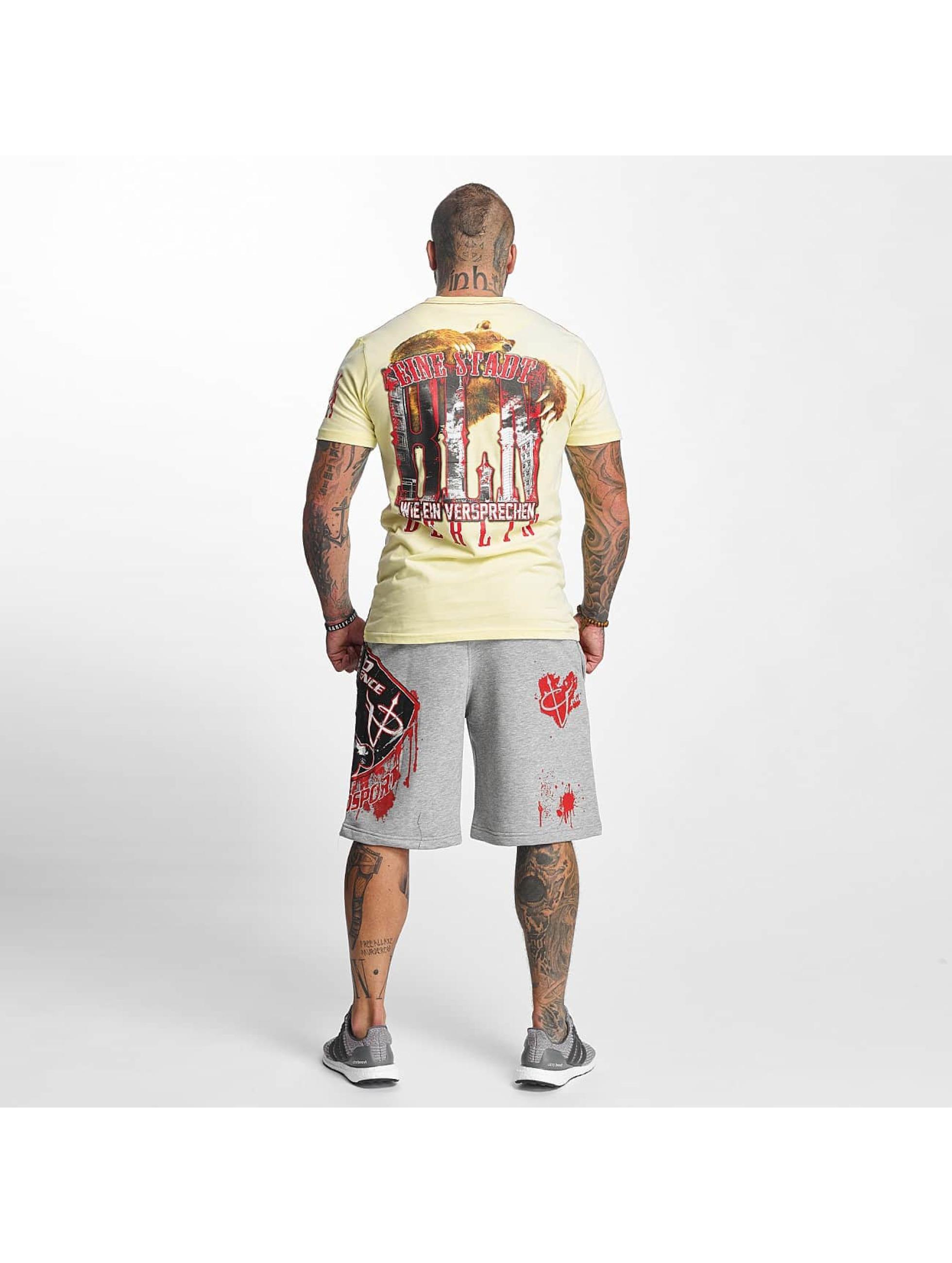 Pro Violence Streetwear T-Shirt BLN City gelb