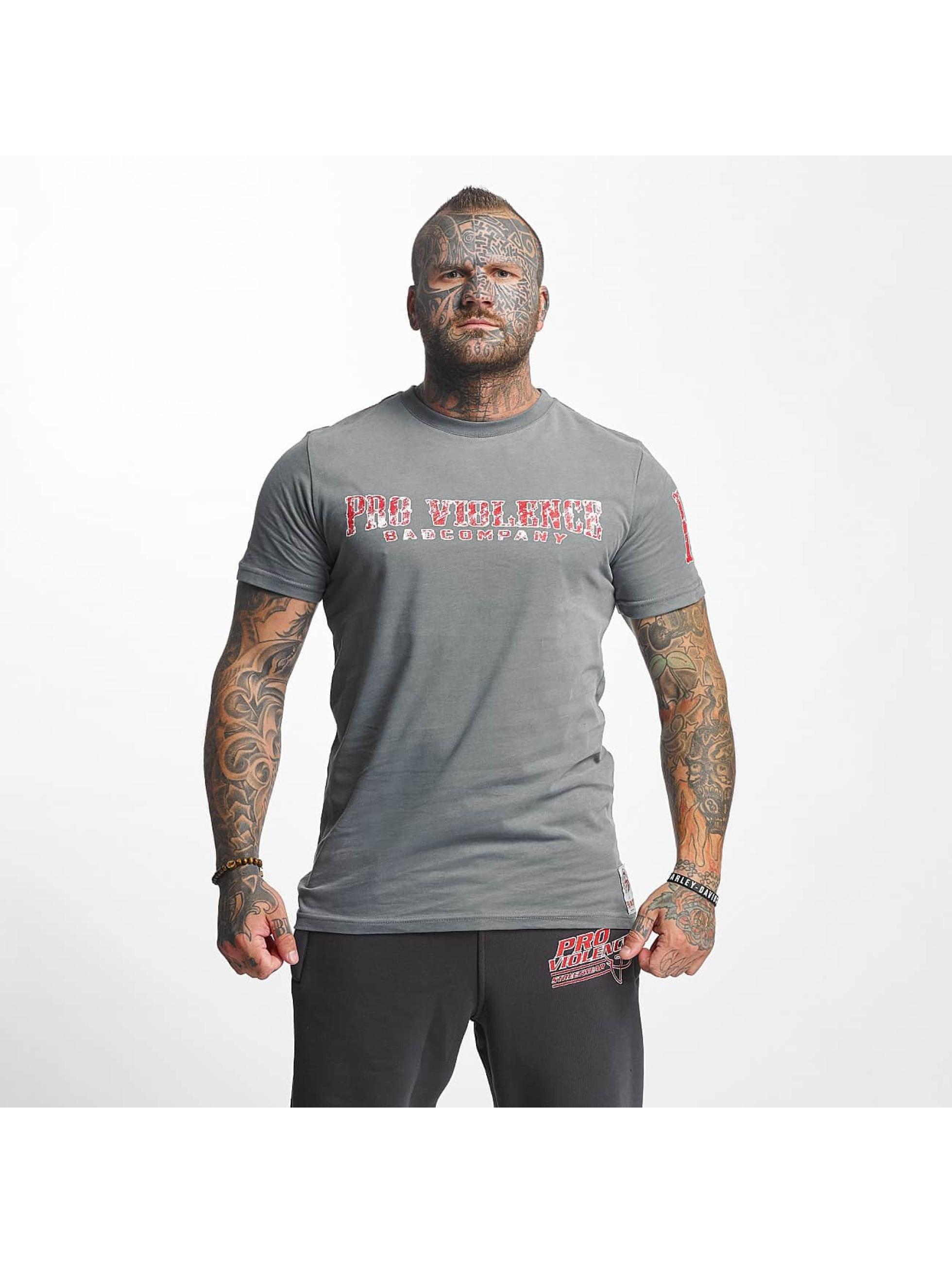 Pro Violence Streetwear T-Shirt BLN City gray
