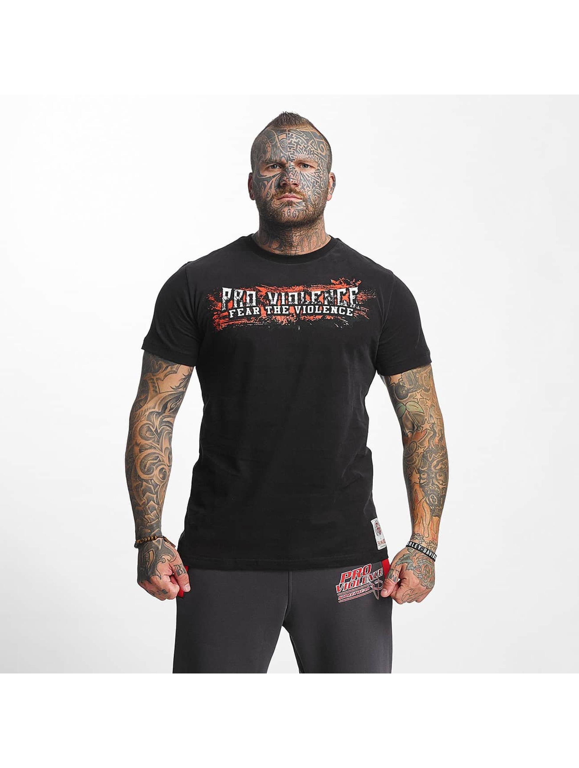 Pro Violence Streetwear T-Shirt The Violence Fear noir