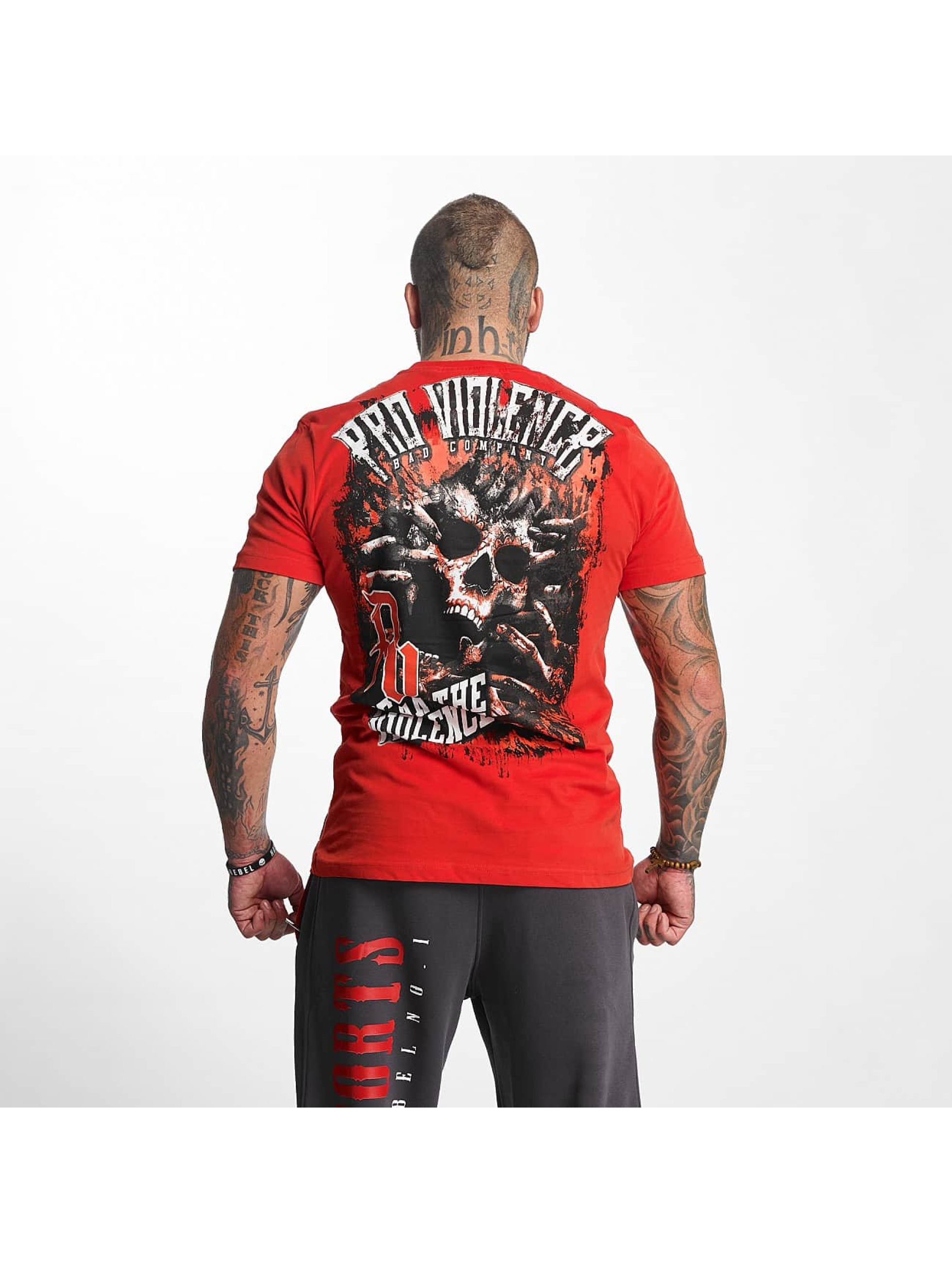 Pro Violence Streetwear T-Shirt The Violence Fear red